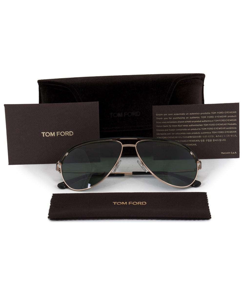 7d7caa13adc4 Lyst - Tom Ford Erin Aviator Sunglasses Ft0466 05n 59