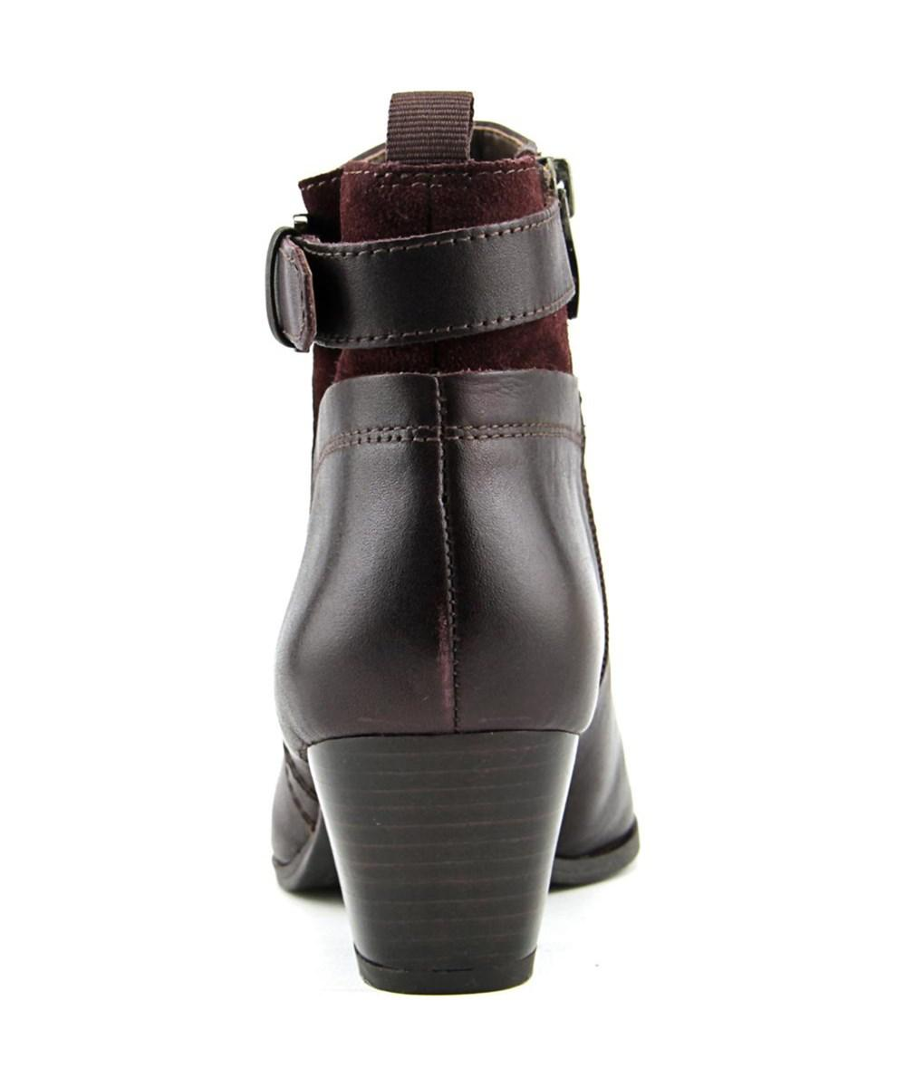 92ca7a336efb Lyst - Franco Sarto Garda Round Toe Leather Ankle Boot in Red