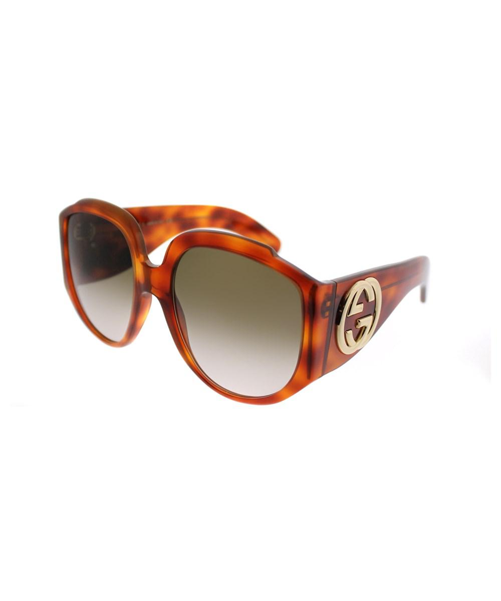 ee46798a87 Lyst - Gucci Gg0151s 003 Light Havana Fashion Sunglasses in Brown