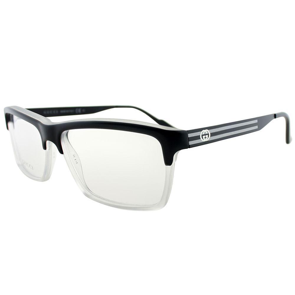 307fba41b7be Lyst - Gucci GG 3517 Ww2/14 53 Black Crystal Rectangle Eyeglasses in ...