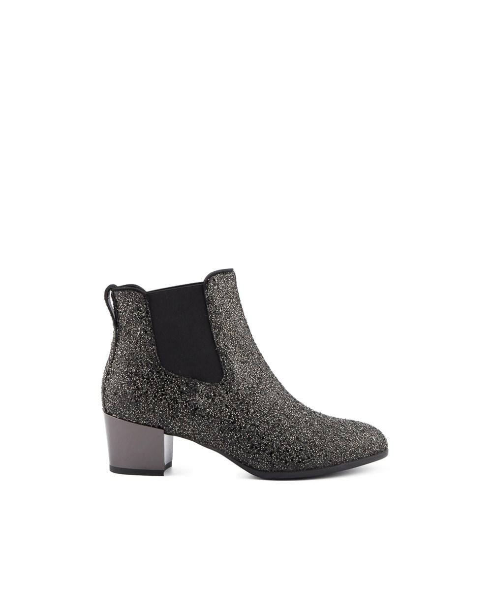 Hogan. Metallic Women's Silver Glitter Ankle Boots