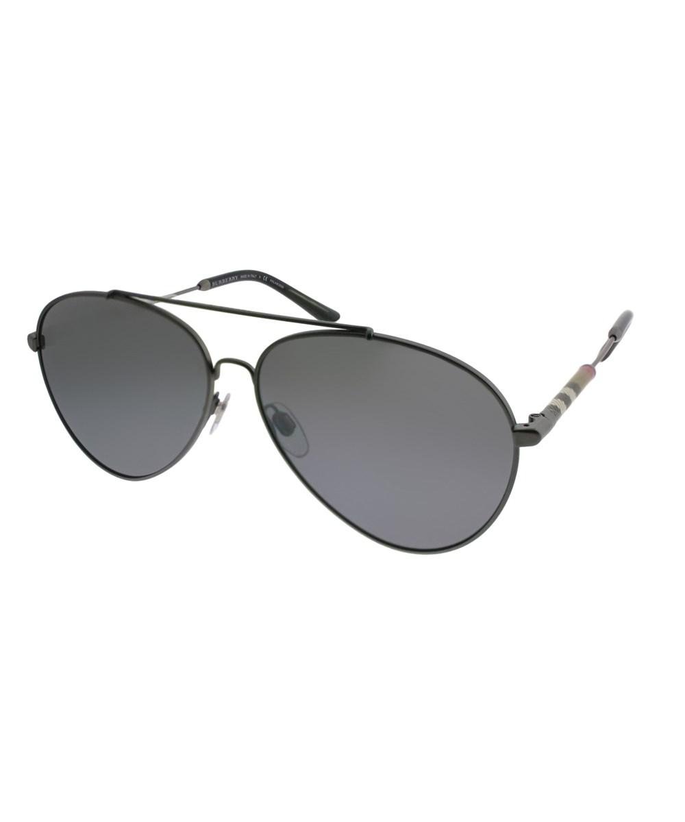 63c18b5974a Burberry. Women s Matte Gunmetal Aviator Sunglasses