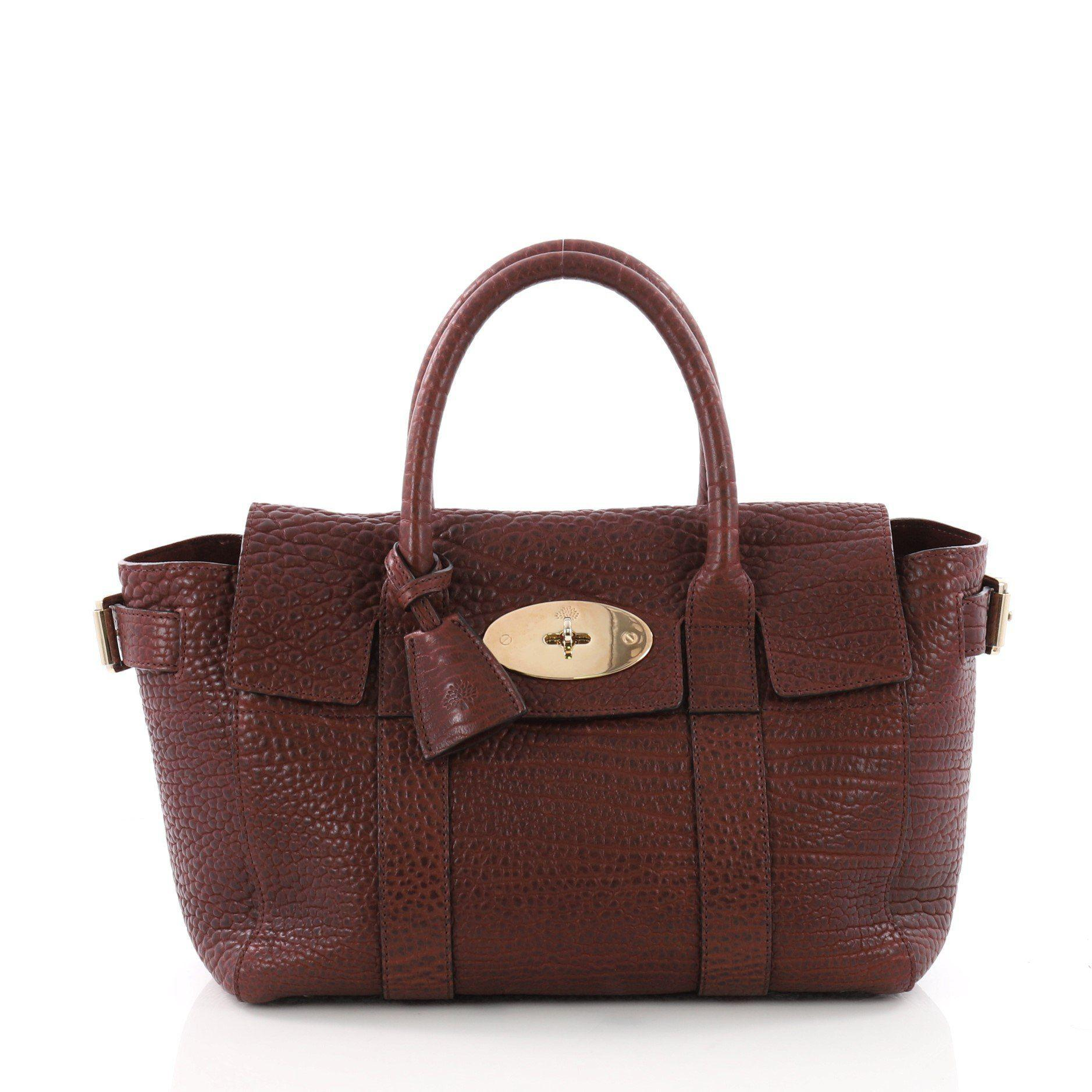 b1b37ba3f9f Lyst - Mulberry Pre Owned Bayswater Satchel Leather Small in Brown