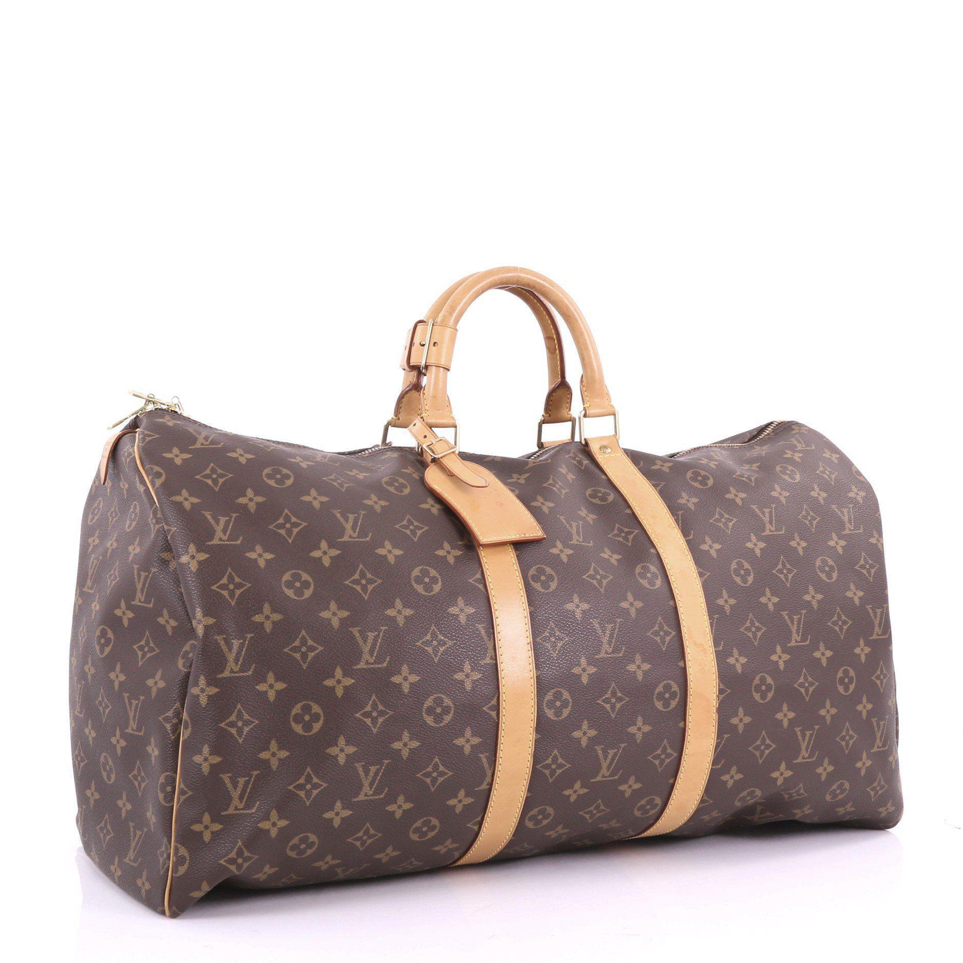 ffe6a9001e07 Louis Vuitton - Brown Pre Owned Keepall Bag Monogram Canvas 55 - Lyst. View  fullscreen