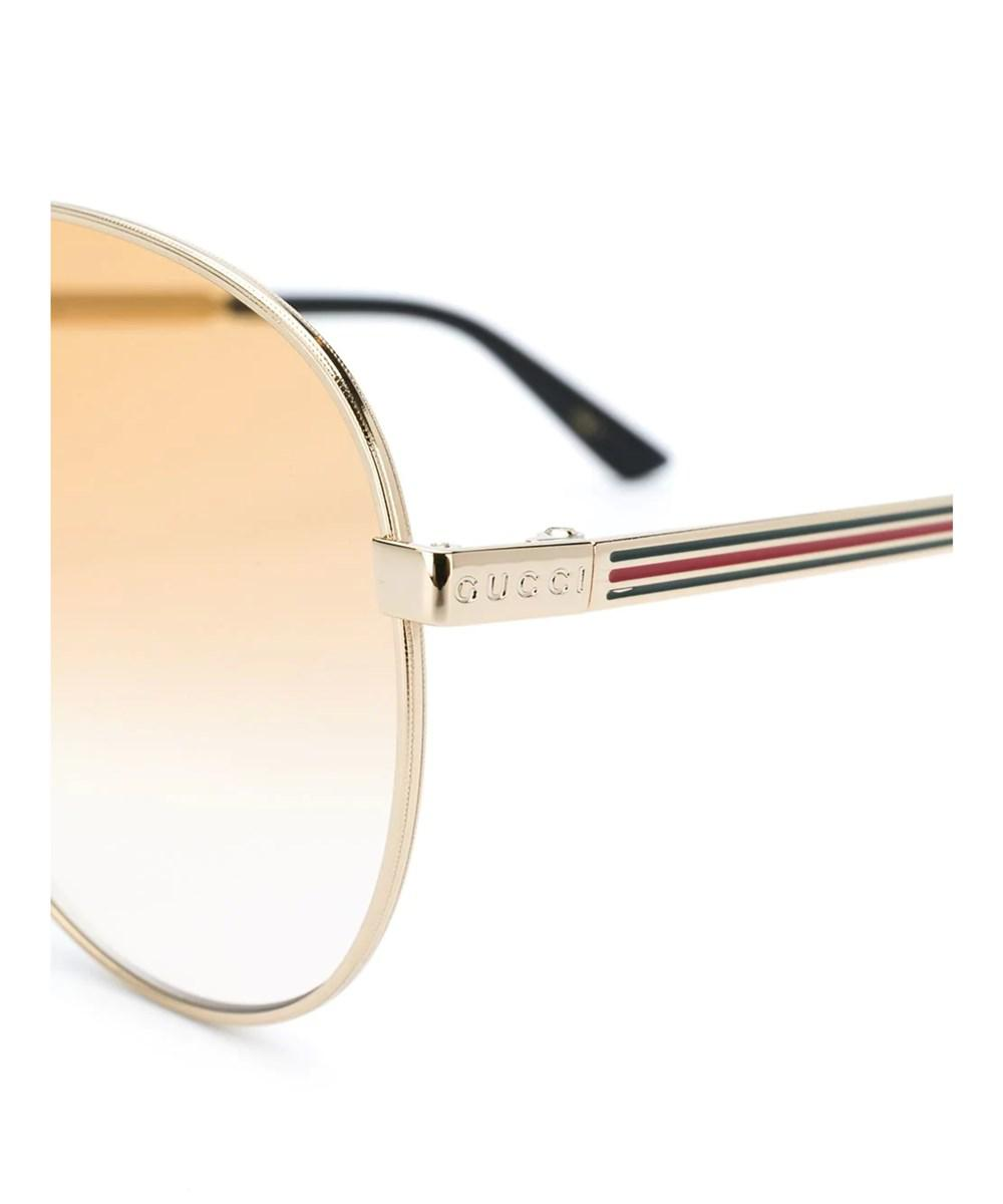 2a9d0fe048b Lyst - Gucci Men s 541352i03308020 Gold Acetate Sunglasses in Metallic for  Men