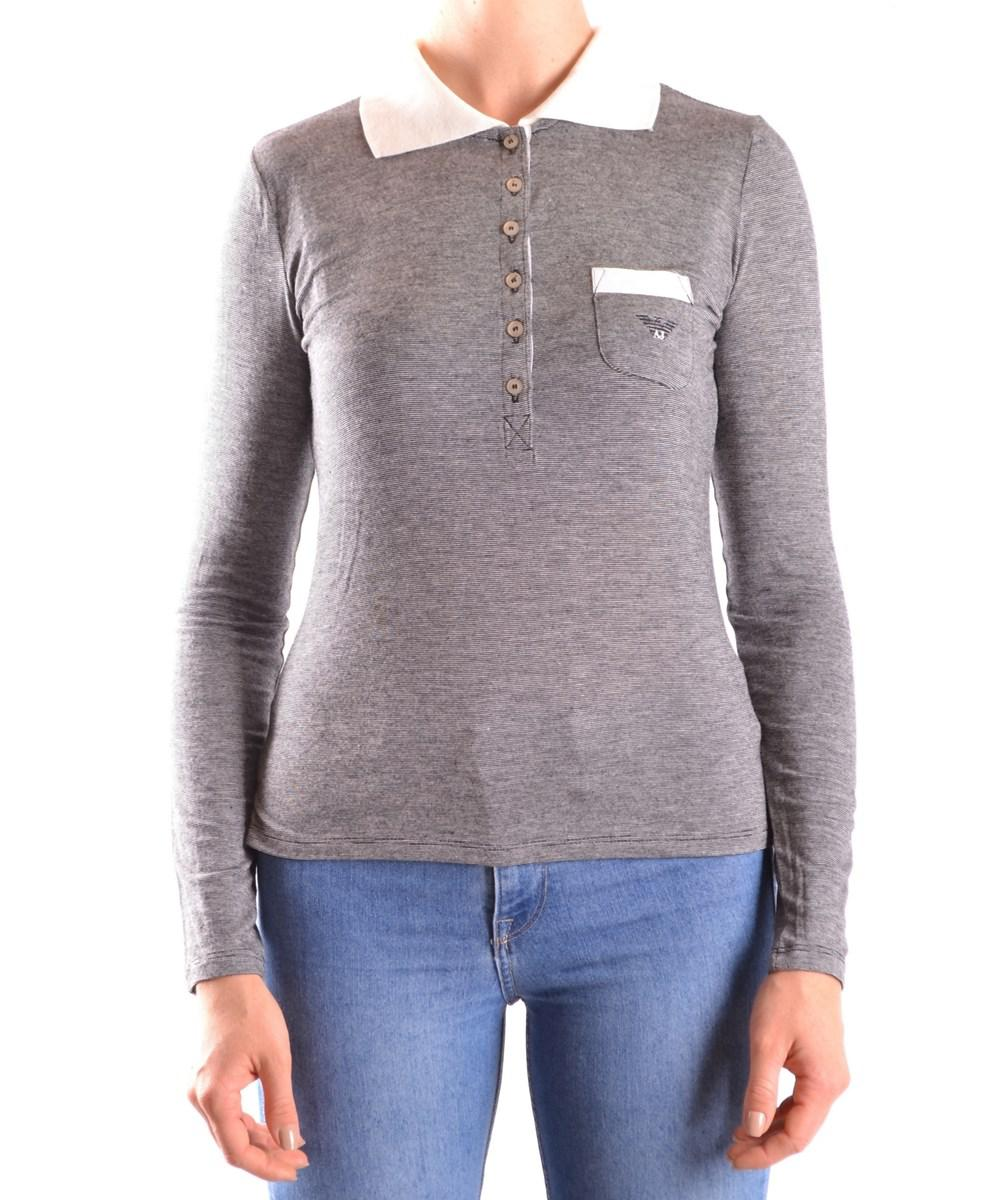 Lyst - Armani Jeans Women s Grey Viscose Polo Shirt in Gray d2fe1e7b5a