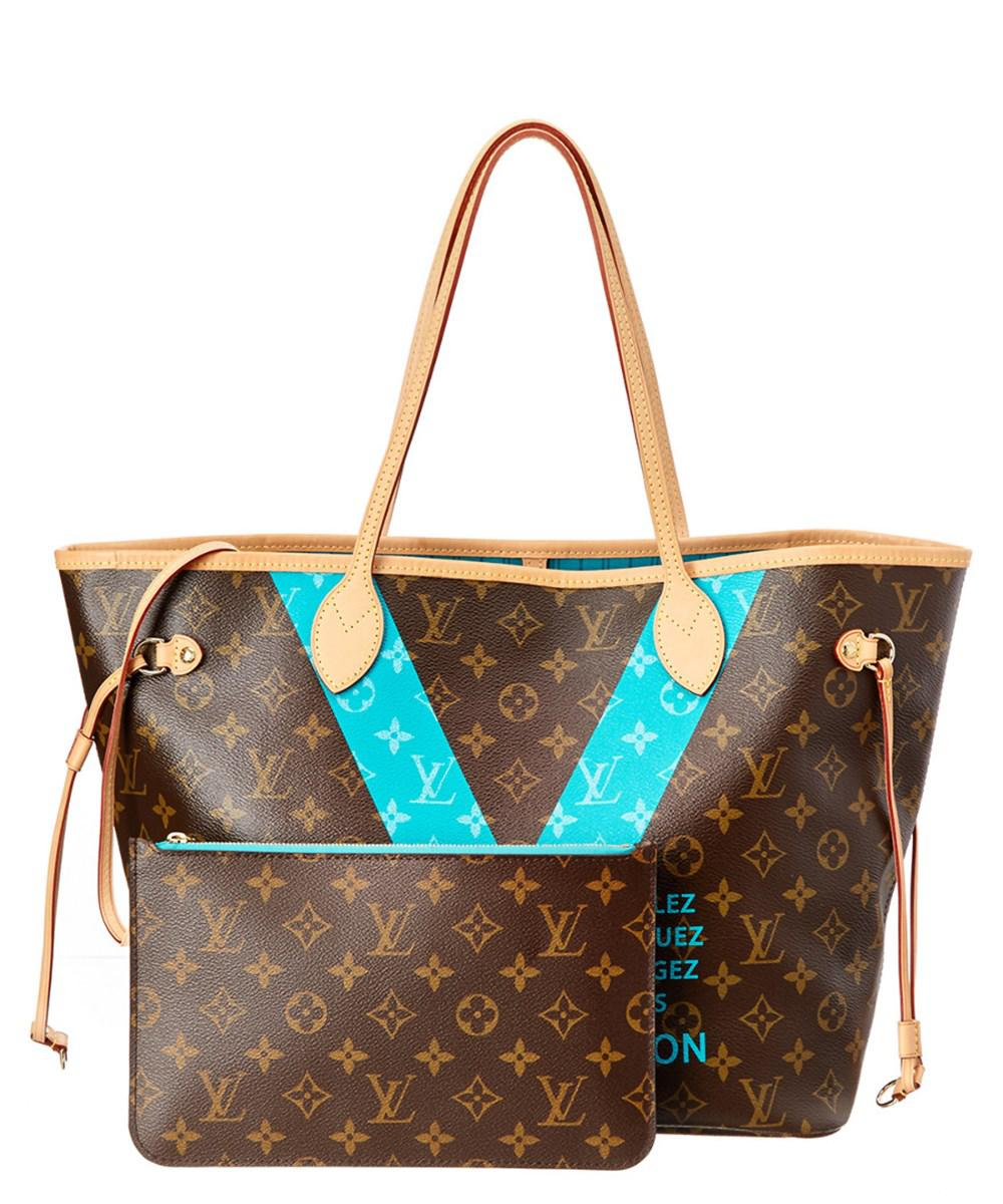 5d2a8f1c1f9c Lyst - Louis Vuitton Limited Edition Blue Monogram Canvas V ...