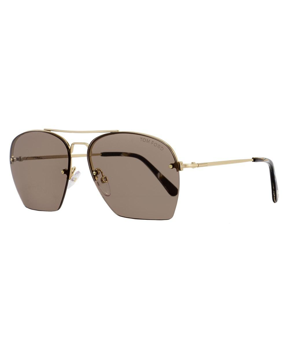 78495c81e6 Tom Ford Aviator Sunglasses Tf505 Whelan 28e Gold brown Horn Ft0505 ...