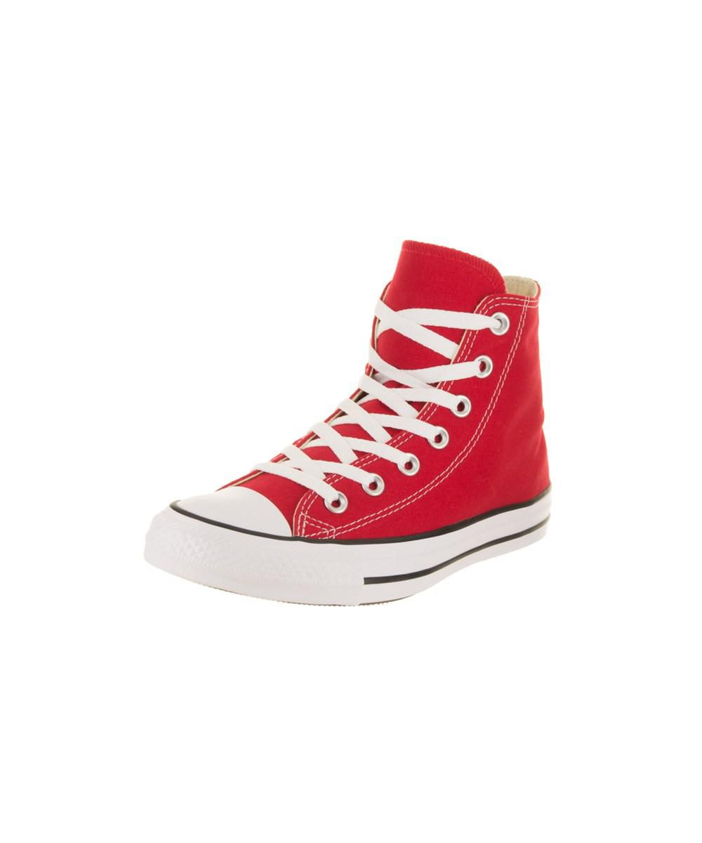 746a33673946 Lyst - Converse Women s Chuck Taylor All Star Hi Basketball Shoe in Red