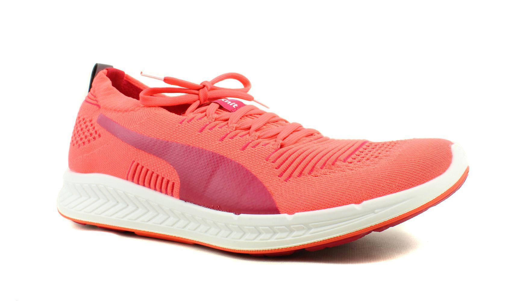 143b5549d63f65 Lyst - Puma Womens Ignite Proknit Orange Running Shoes in Red