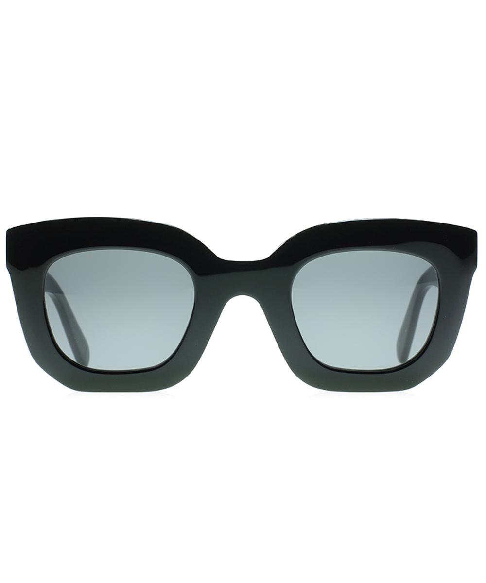d2ee3b237ee Lyst - Céline Marta Small Square Plastic Sunglasses in Black