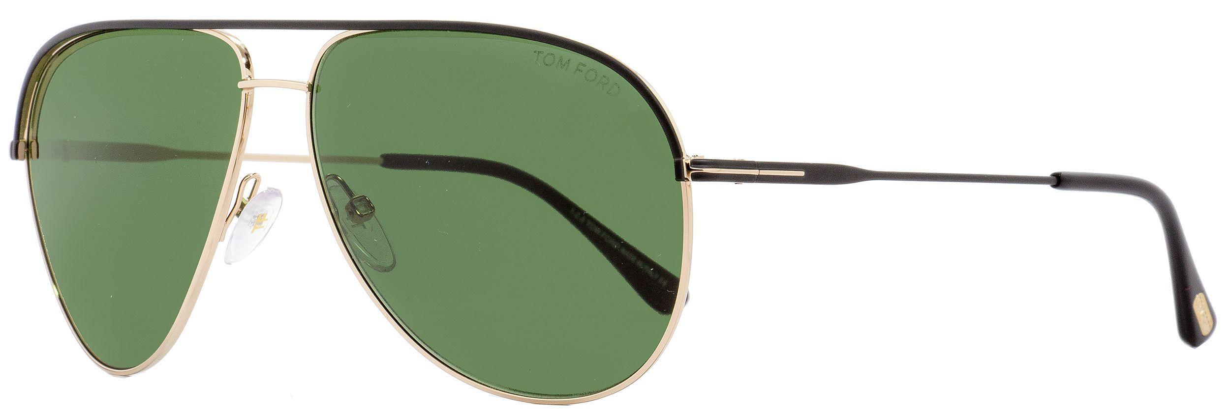 ae1b6bdfc2 Lyst - Tom Ford Aviator Sunglasses Tf466 Erin 05n Black gold 61mm ...