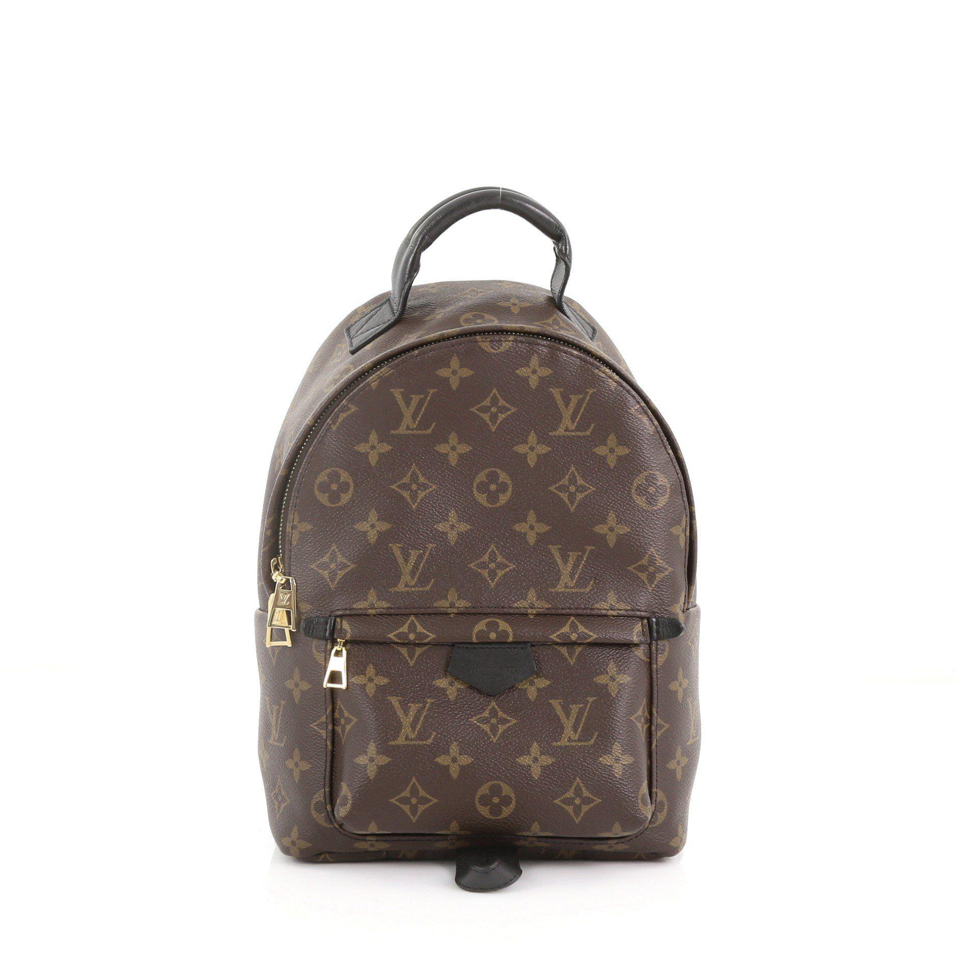 Lyst - Louis Vuitton Pre Owned Palm Springs Backpack Monogram Canvas ... 5f89dd17e8