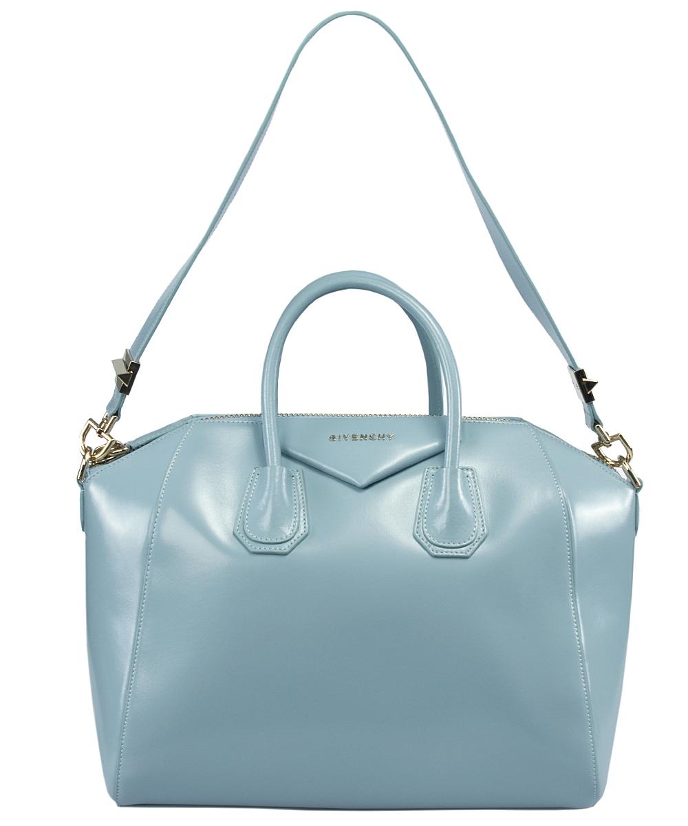 57556ffd72 Lyst - Givenchy Antigona Celeste   Sky Blue Leather Medium Satchel ...