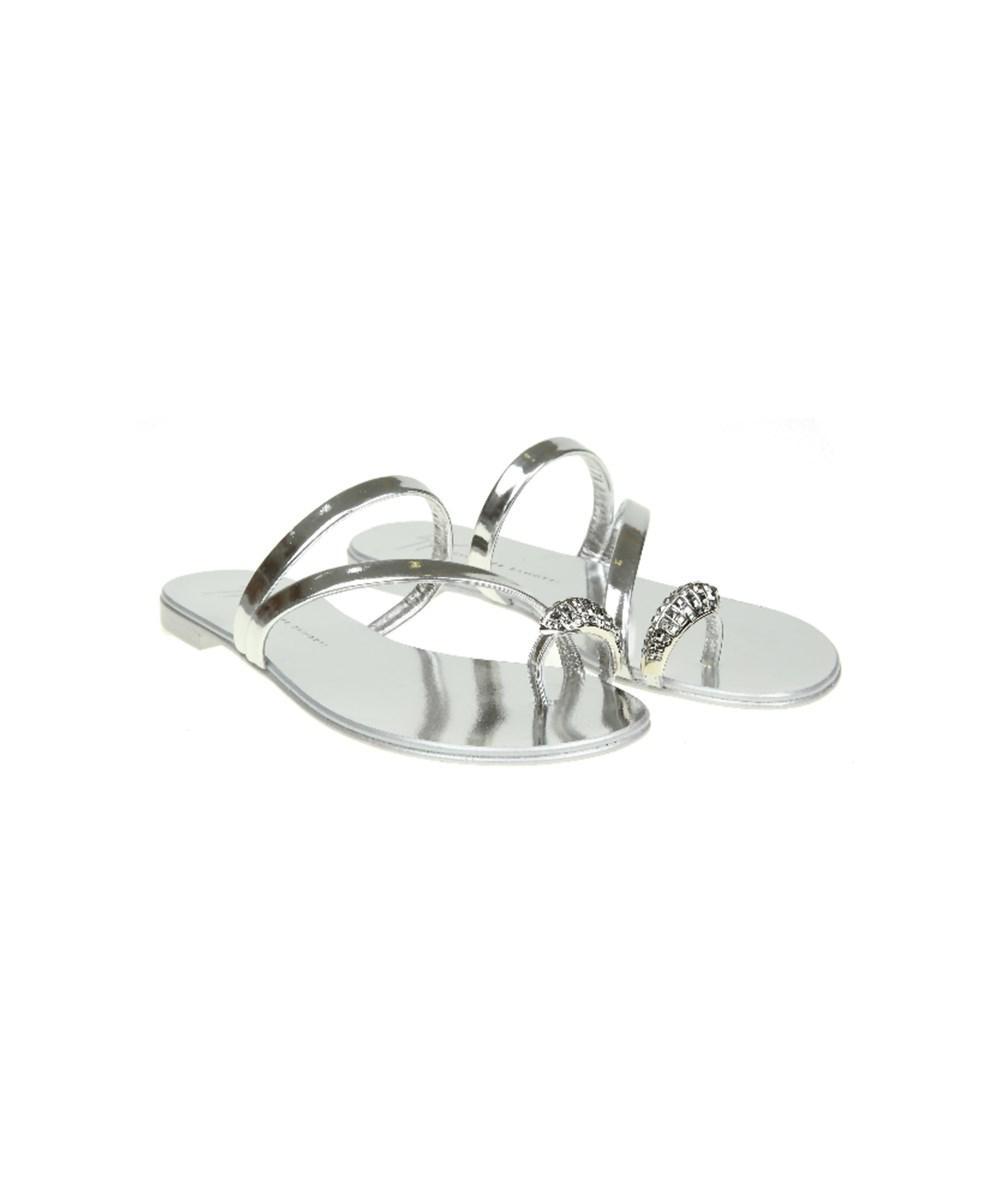 dc4f69f93 Lyst - Giuseppe Zanotti Design Women s Silver Leather Sandals in ...