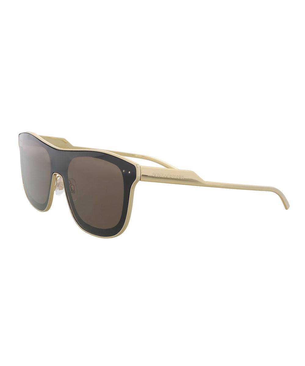 5b1cf946524 Lyst - Dolce   Gabbana Dg2174 04 73 Gold Square Sunglasses in ...