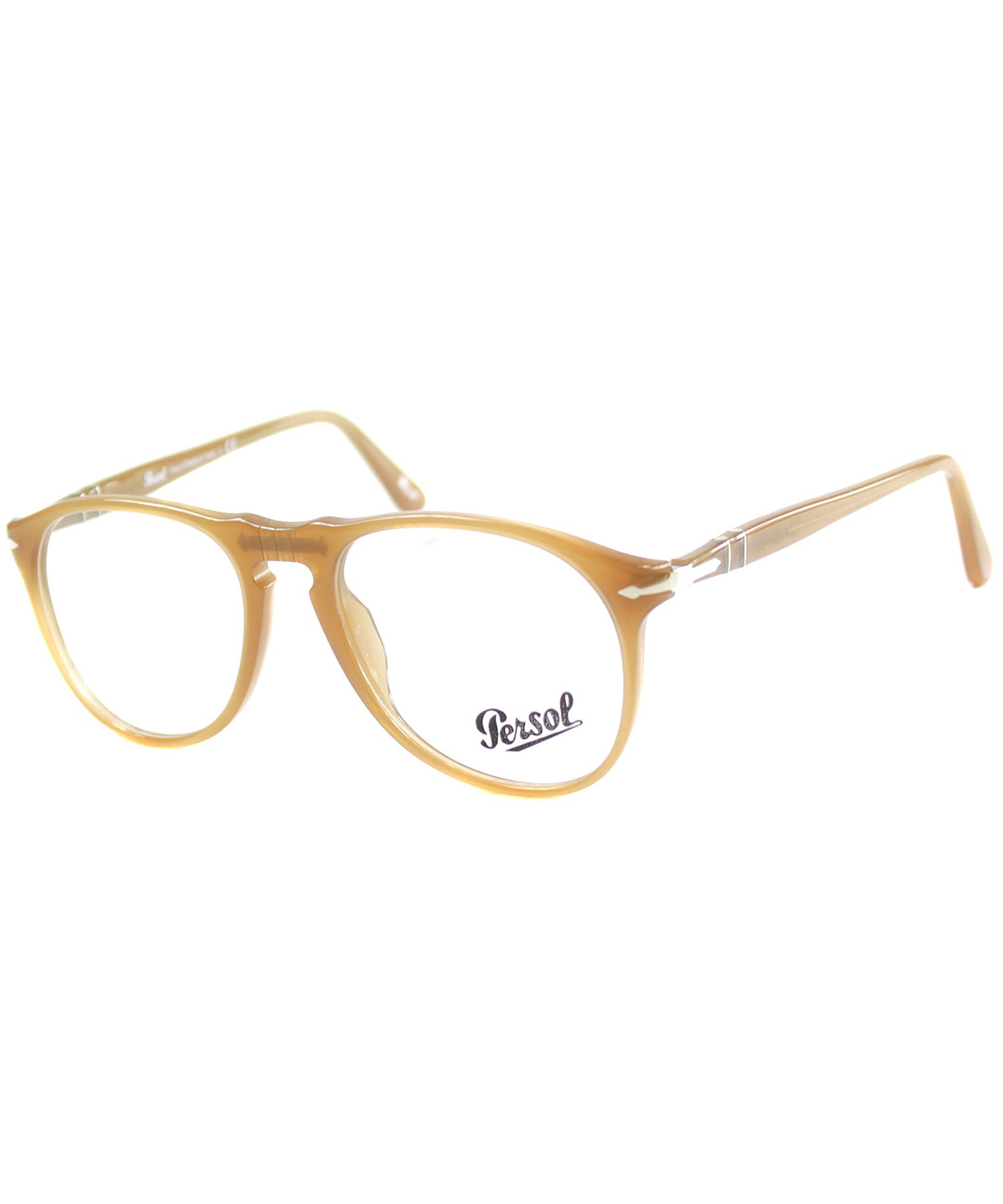 15c7506138 Lyst - Persol Po 9649v 1014 Round Plastic Eyeglasses in Brown