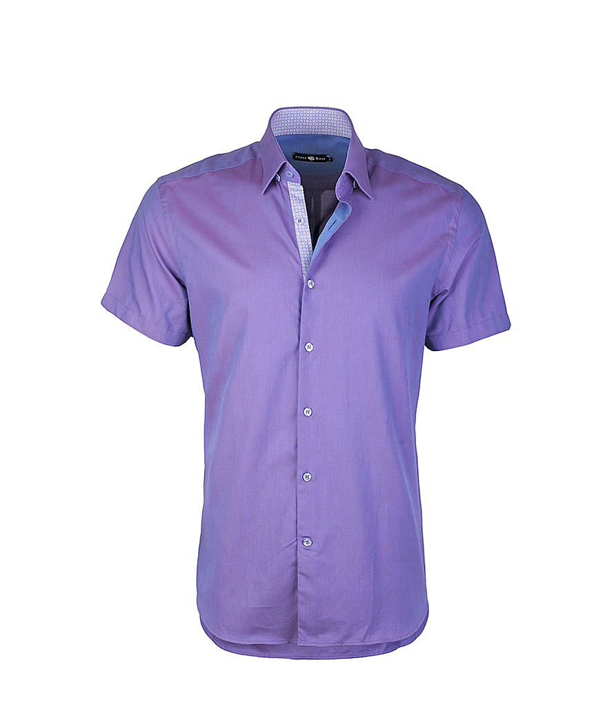 Stone rose purple soft oxford button down shirt in purple for Men s oxford button down shirts