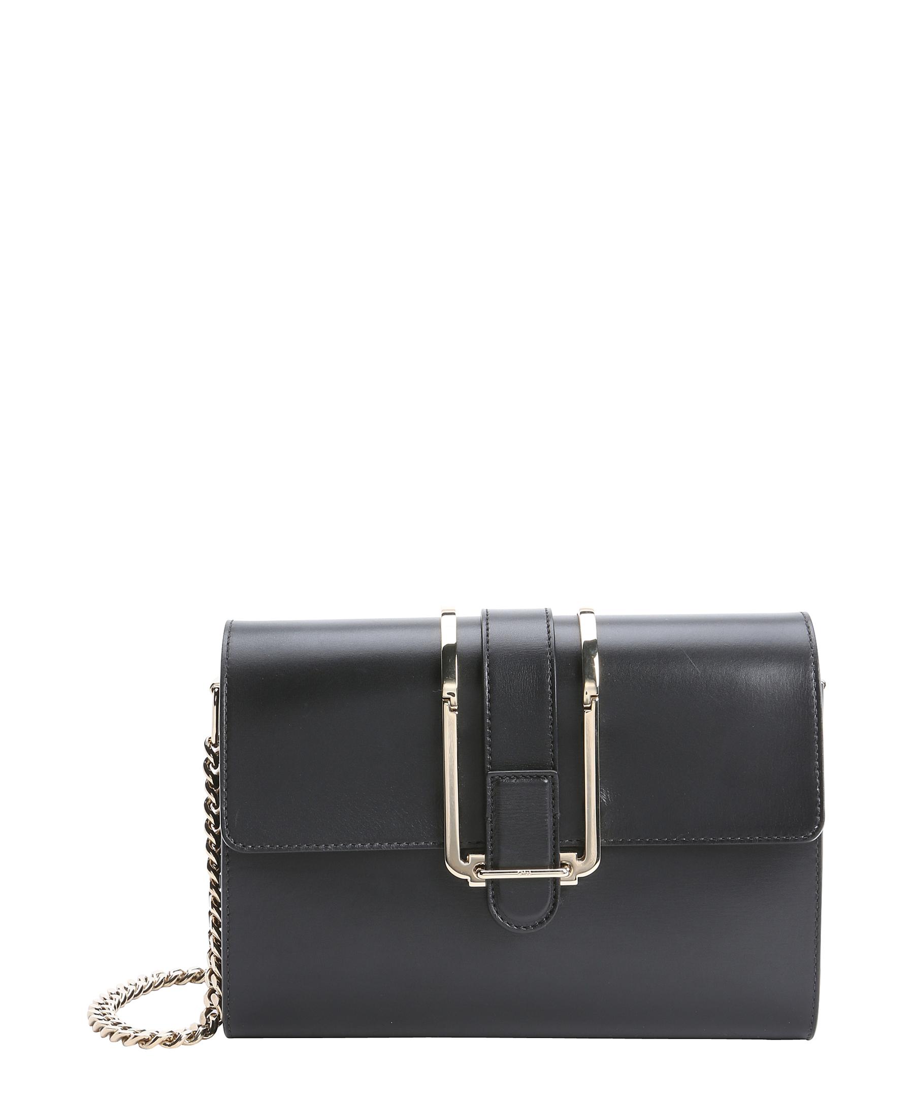 Chlo�� Black Leather \u0026#39;bronte\u0026#39; Small Shoulder Bag in Black | Lyst