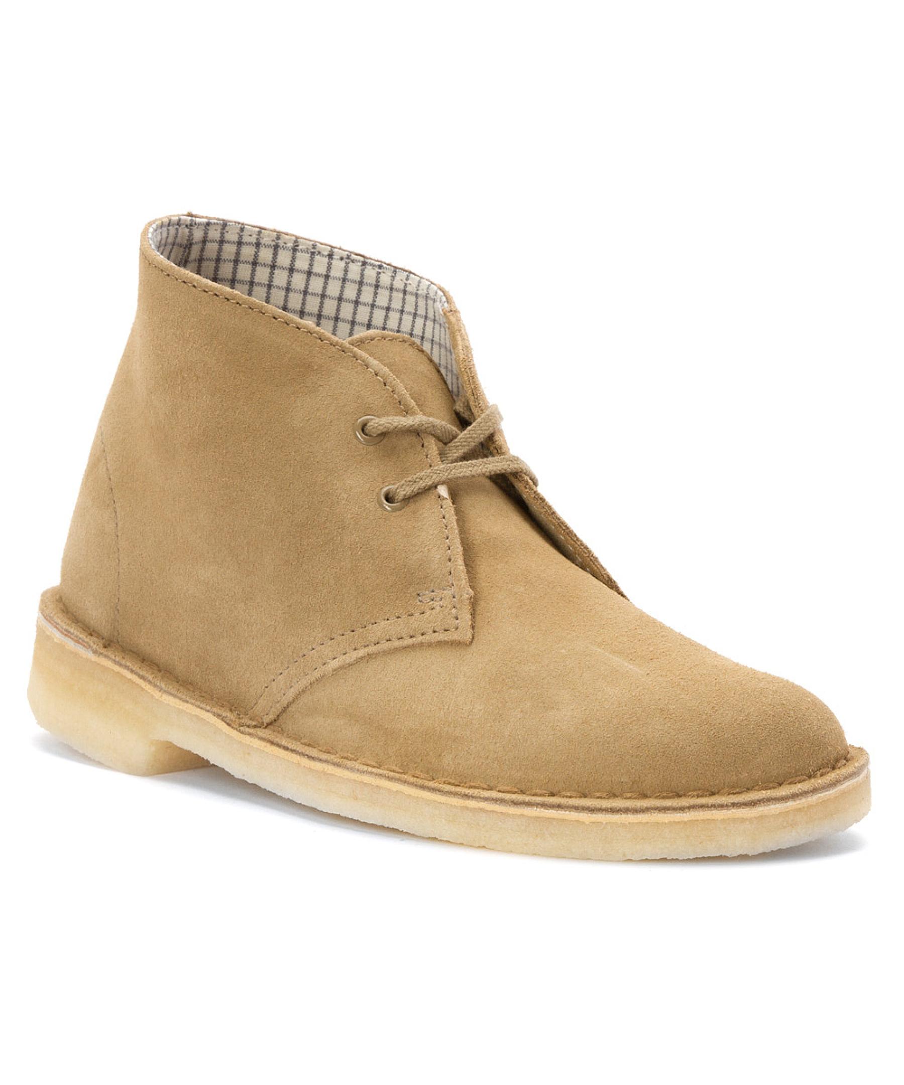 clarks s desert boot boots in beige lyst
