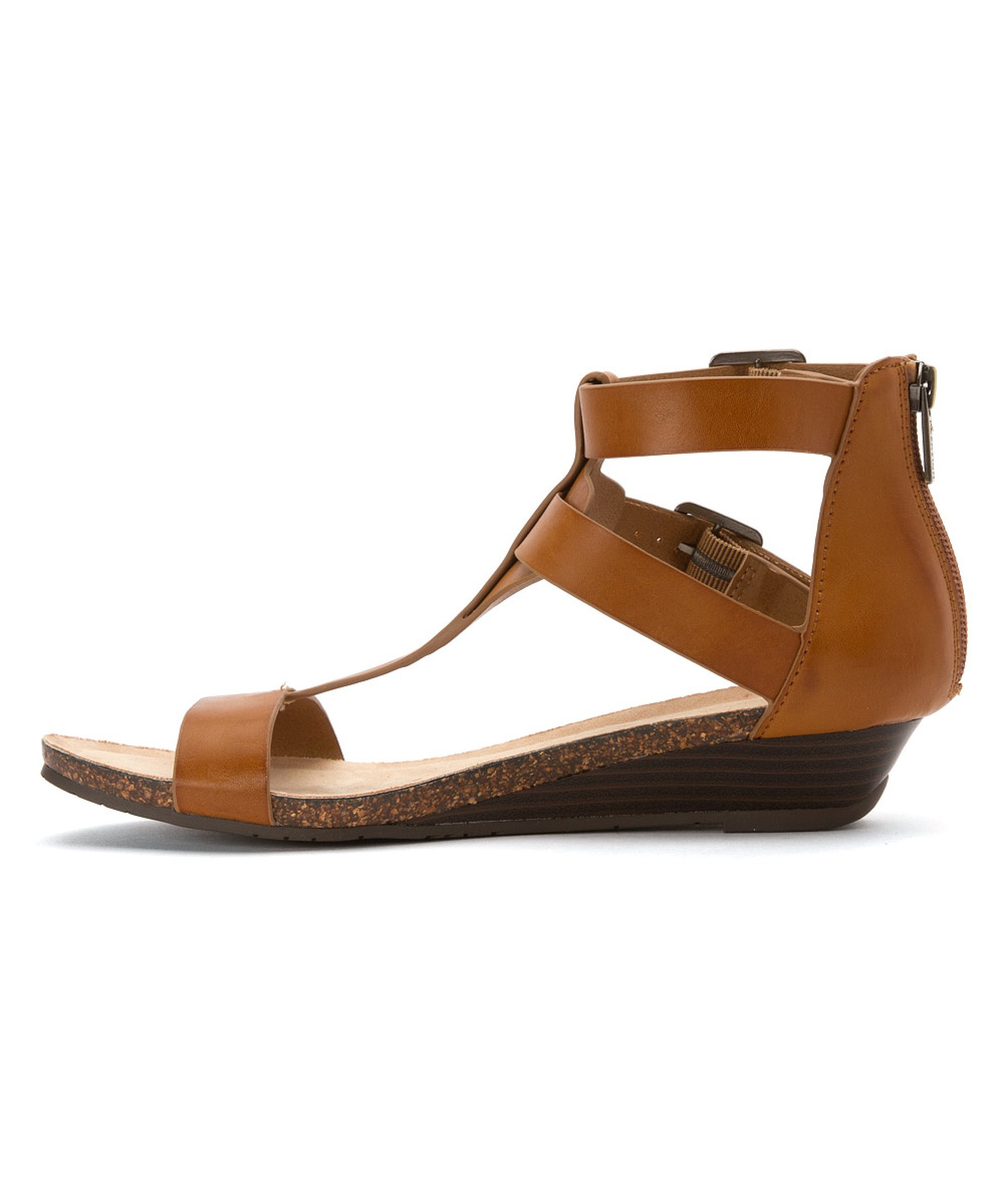 Wonderful Unlisted Kenneth Cole Unlisted Kenneth Cole Web Cast Women Open Toe Faux Leather Brown Wedge ...