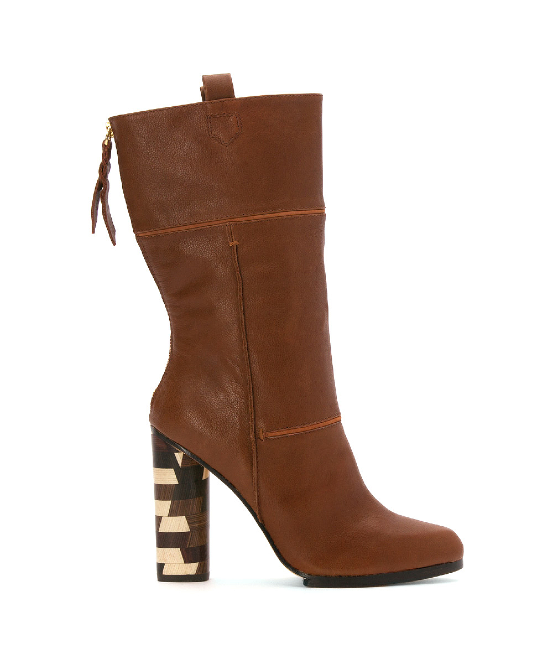 cynthia vincent s hype boots in brown lyst