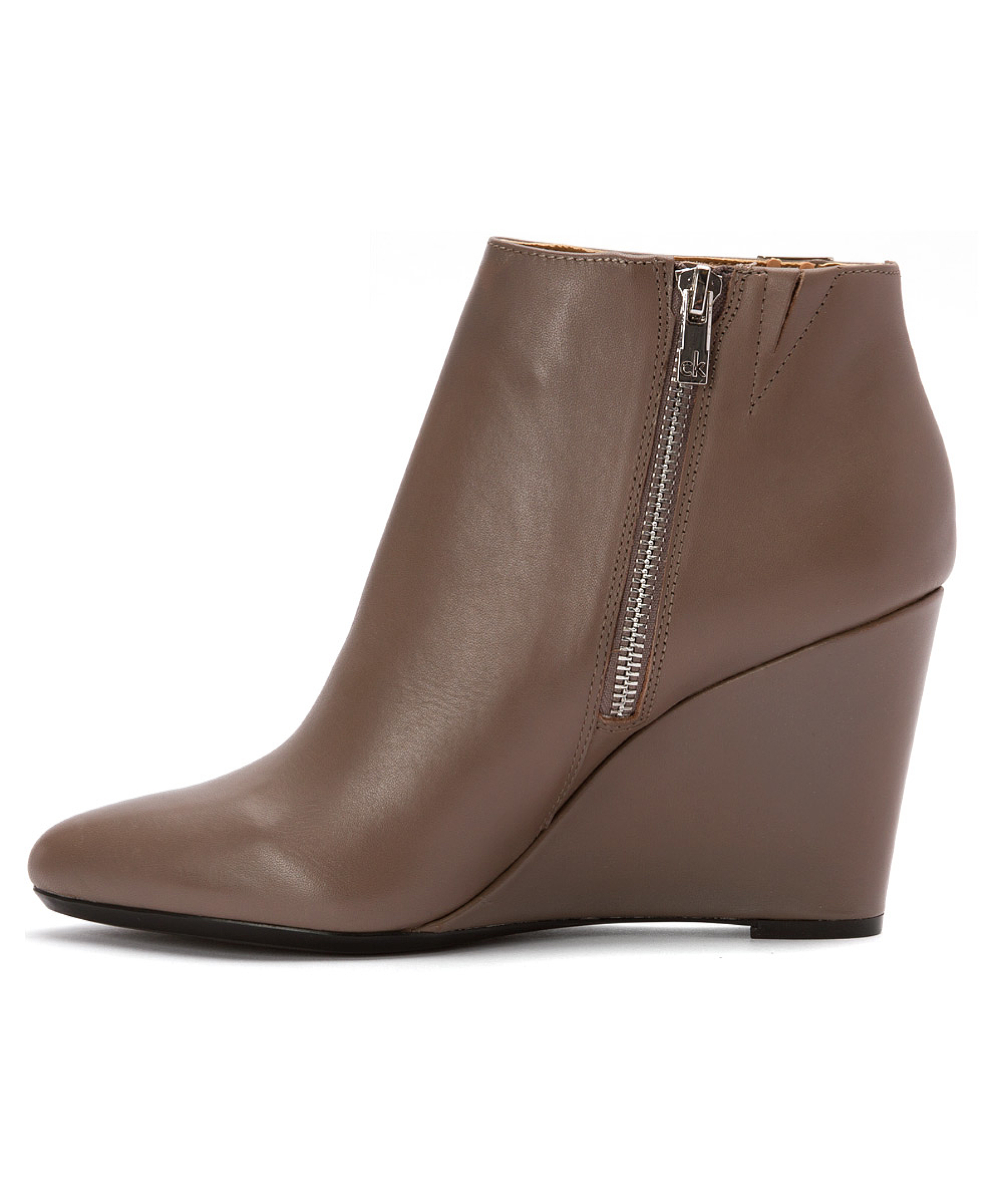 calvin klein s charlaine boots in brown lyst