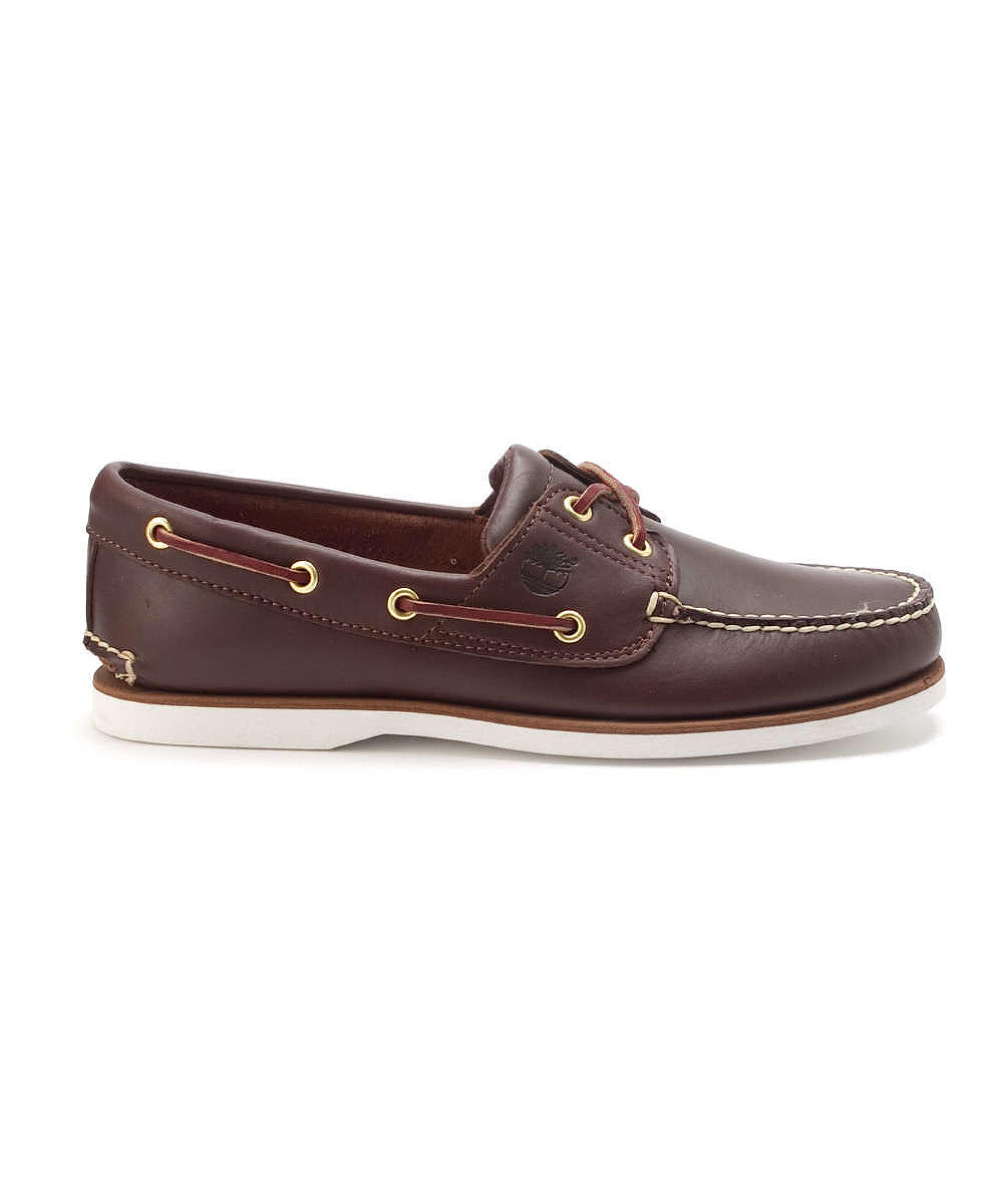 Timberland Menu0026#39;s U00c2u00ae Icon 2-eye Boat Athletic Boating Shoes In Brown For Men (rootbeer) | Lyst