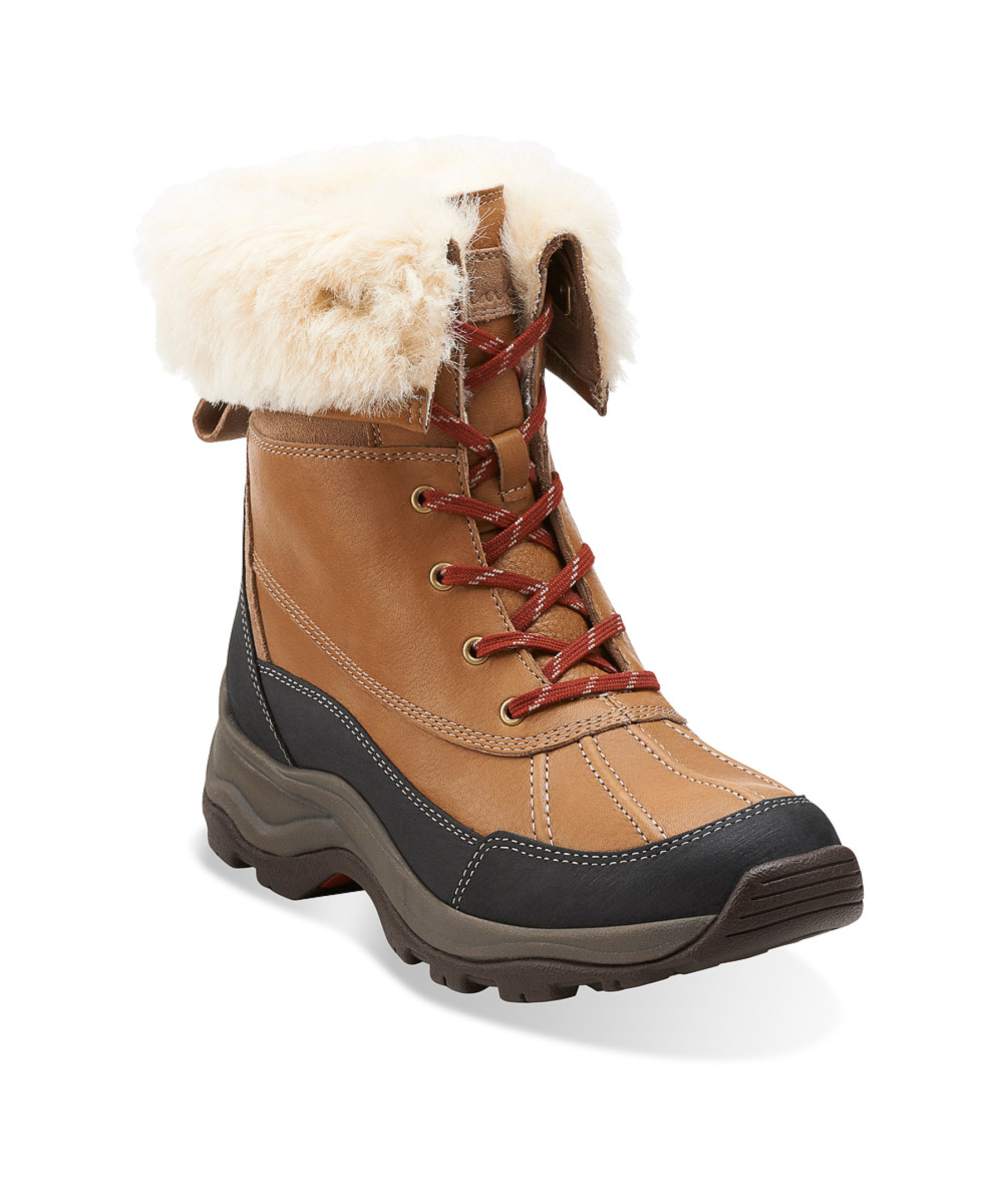 Clarks Women's Arctic Venture Snow Boots in Brown (camel