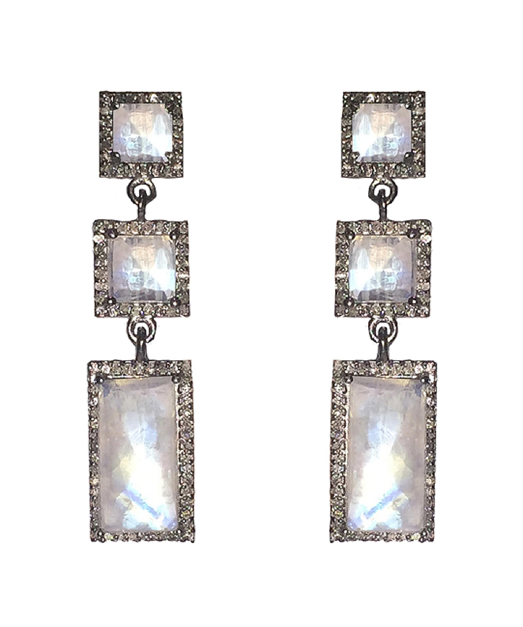 adornia moonstone and champagne diamond thompson earrings. Black Bedroom Furniture Sets. Home Design Ideas