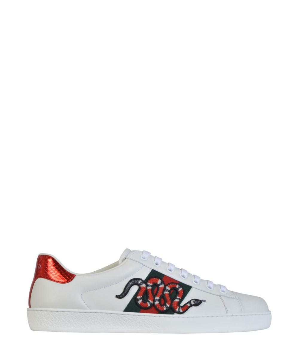 0f072db2bcd Lyst - Gucci Men s White Leather Sneakers in White for Men