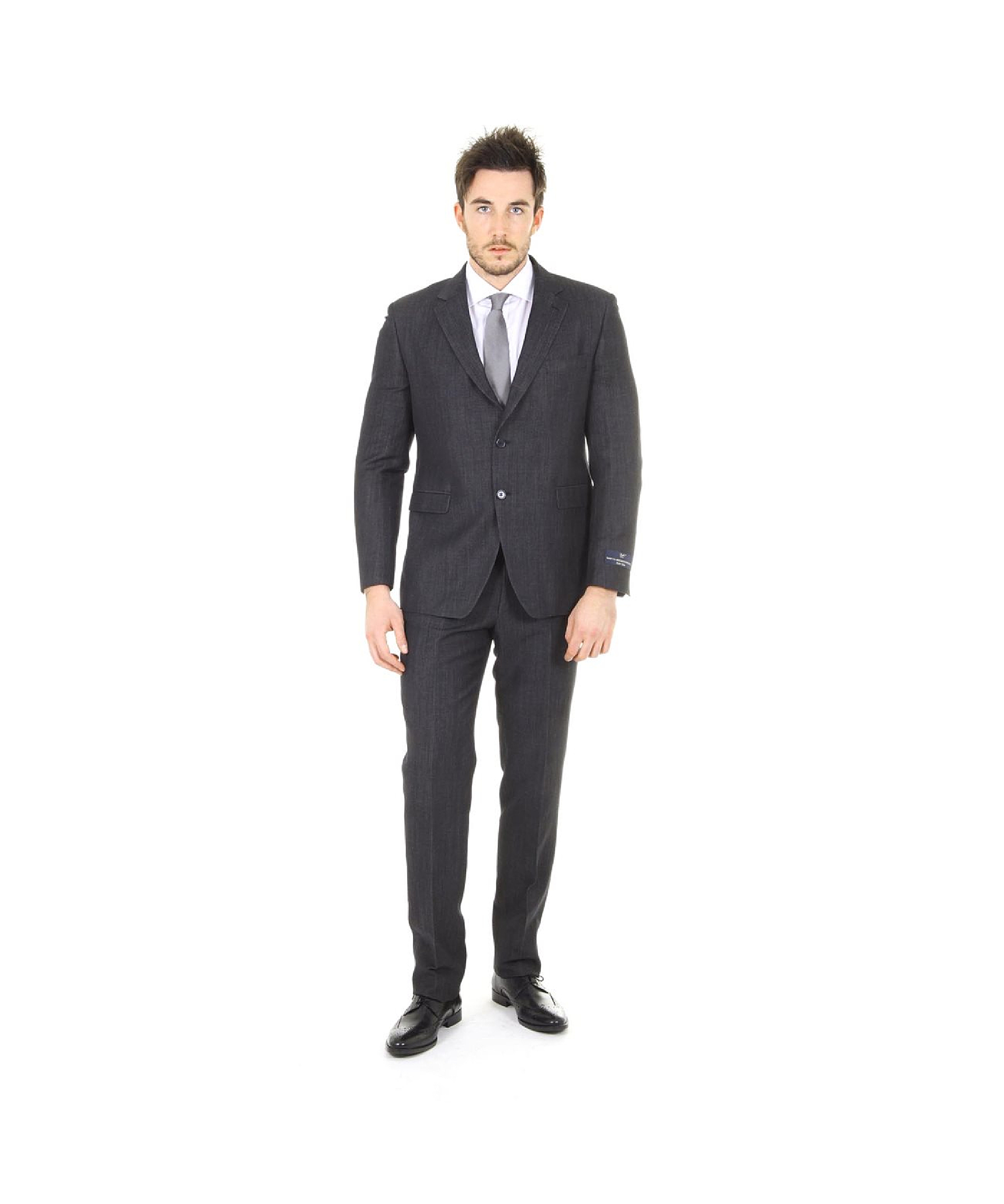 Versace Clak 2 Buttons Suit In Black For Men