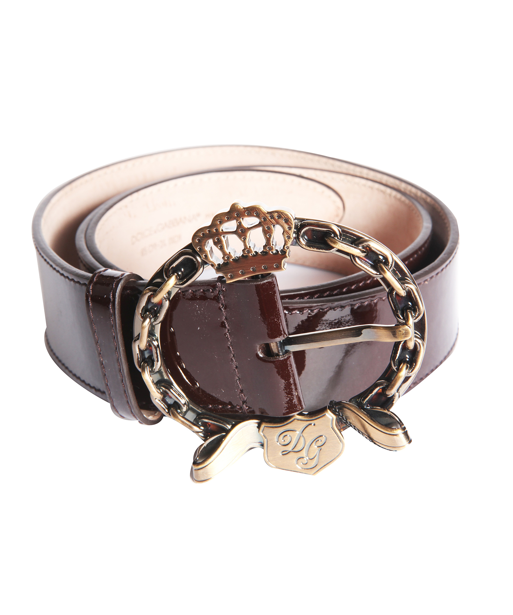 dolce gabbana s patent leather belt in black lyst