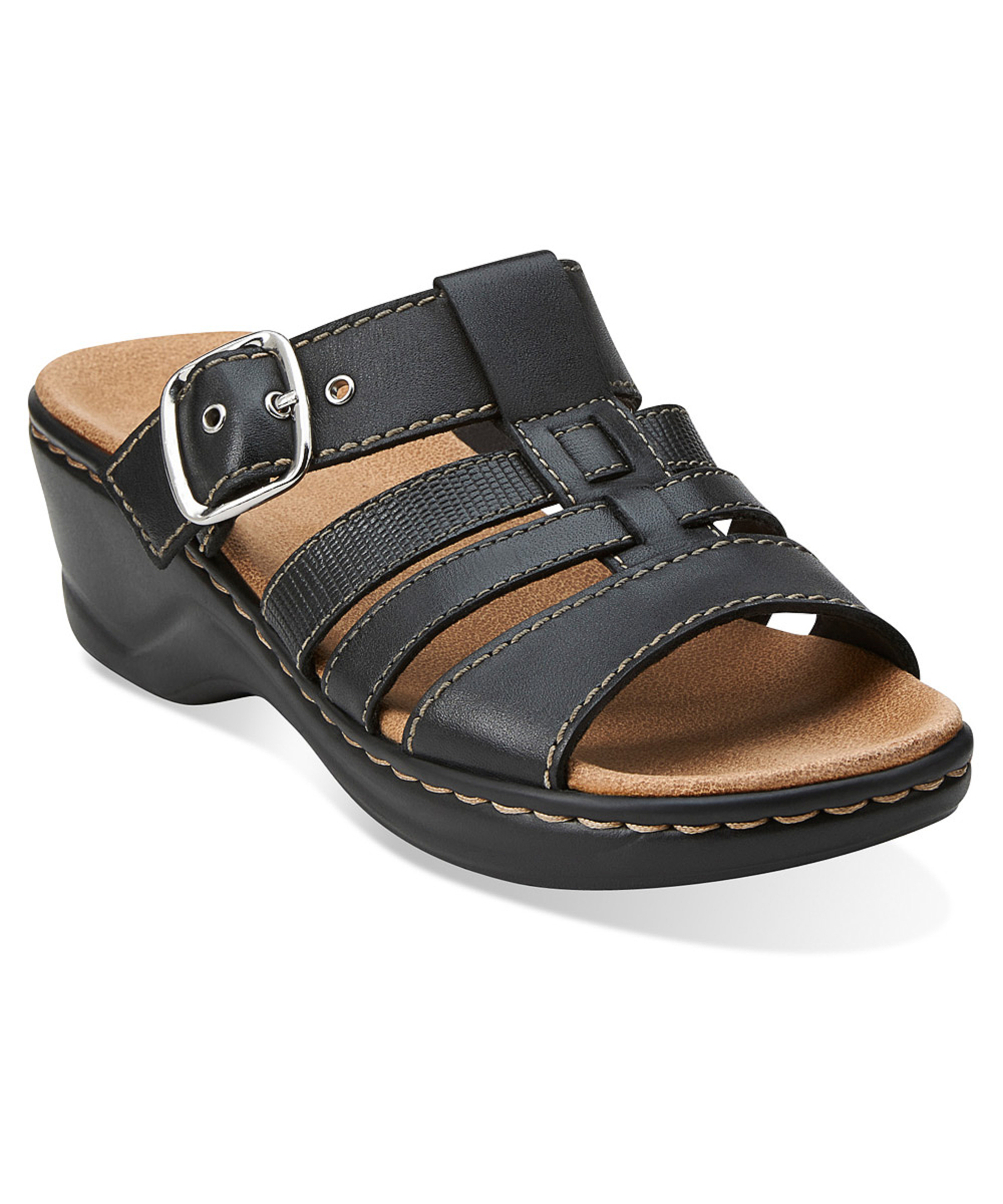 Clarks Women S Lexi Alloy Sandals In Black Lyst