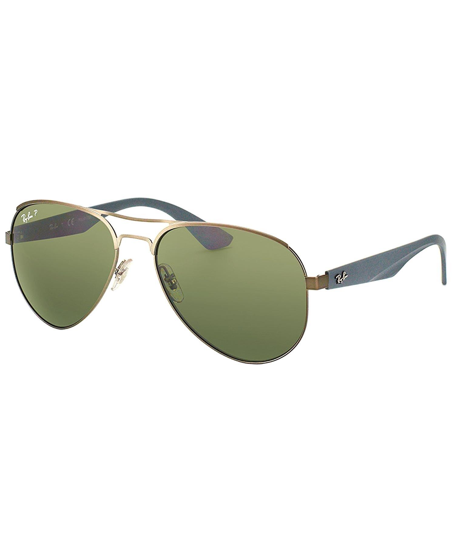 678c82a30e8 Ray Ban Original Aviator Sunglasses Gunmetal Polarized Green ...