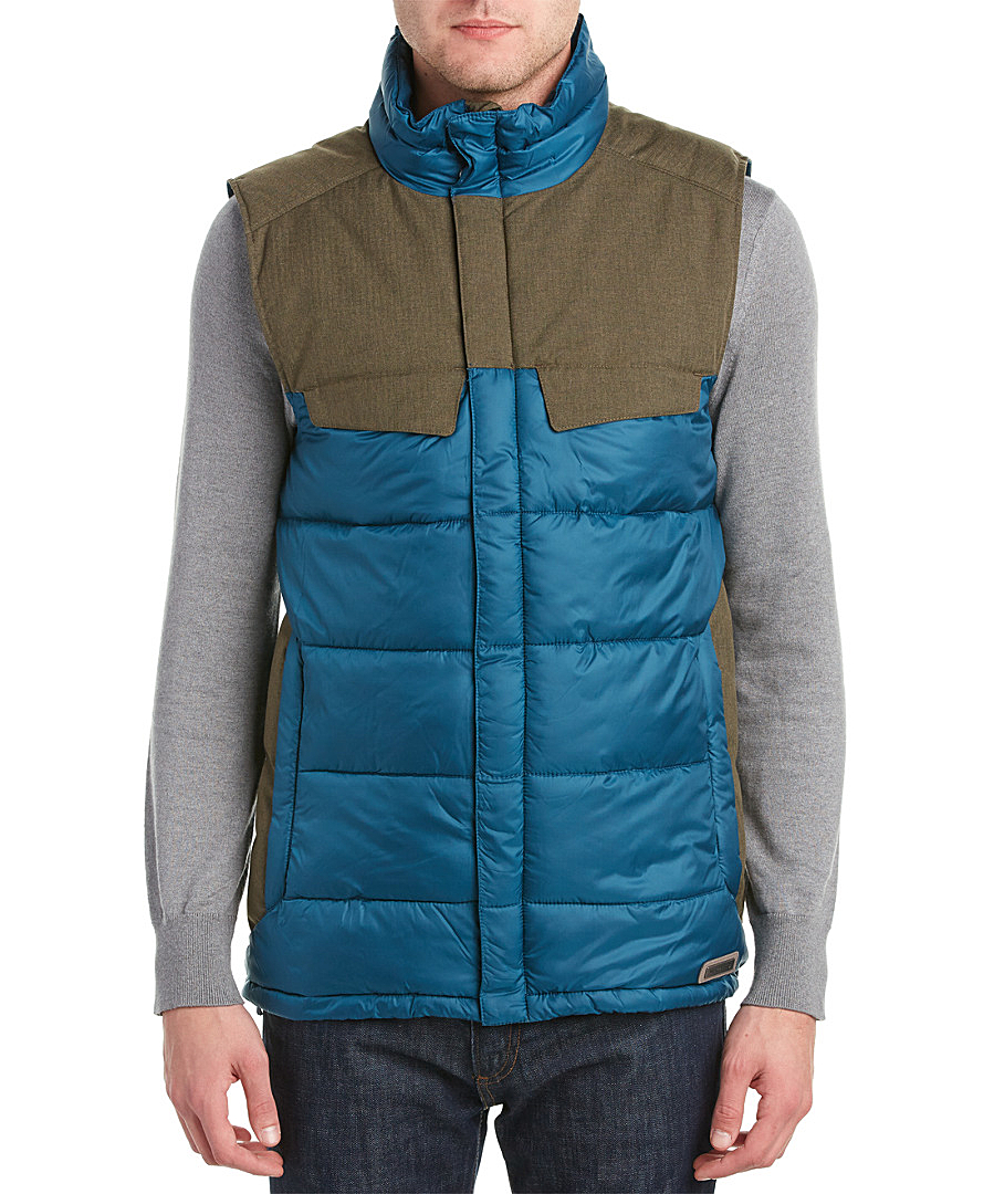Merrell Glacio Featherless Puffer Vest In Blue For Men