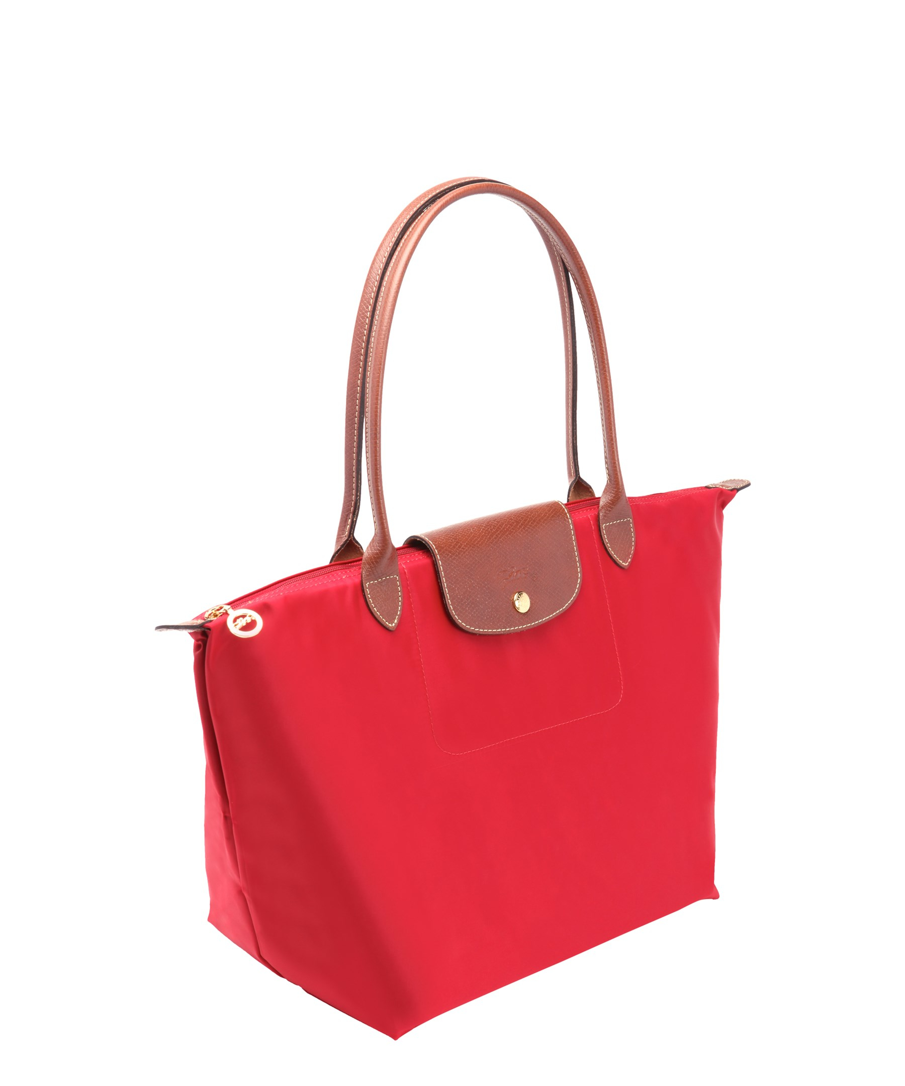 longchamp red nylon 39 le pliage 39 large shopping tote in red. Black Bedroom Furniture Sets. Home Design Ideas