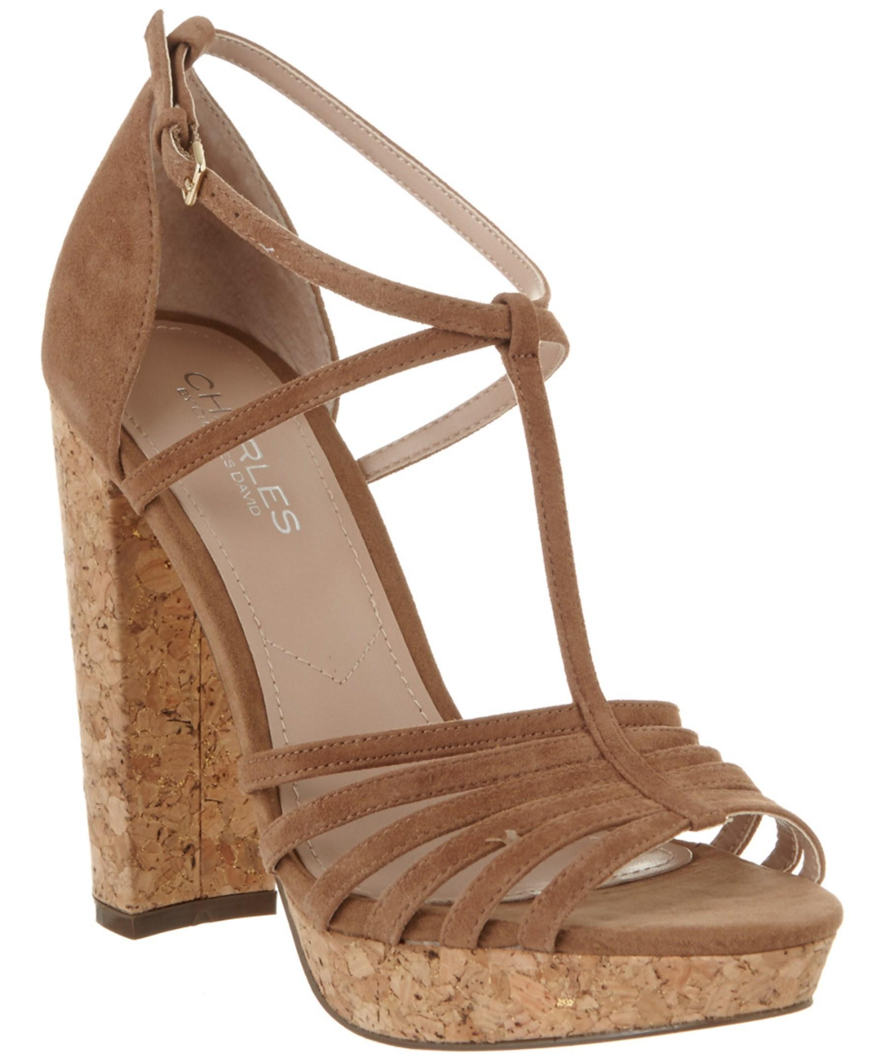 bd54f0043530 Lyst - Charles By Charles David Faint Suede Sandal in Natural