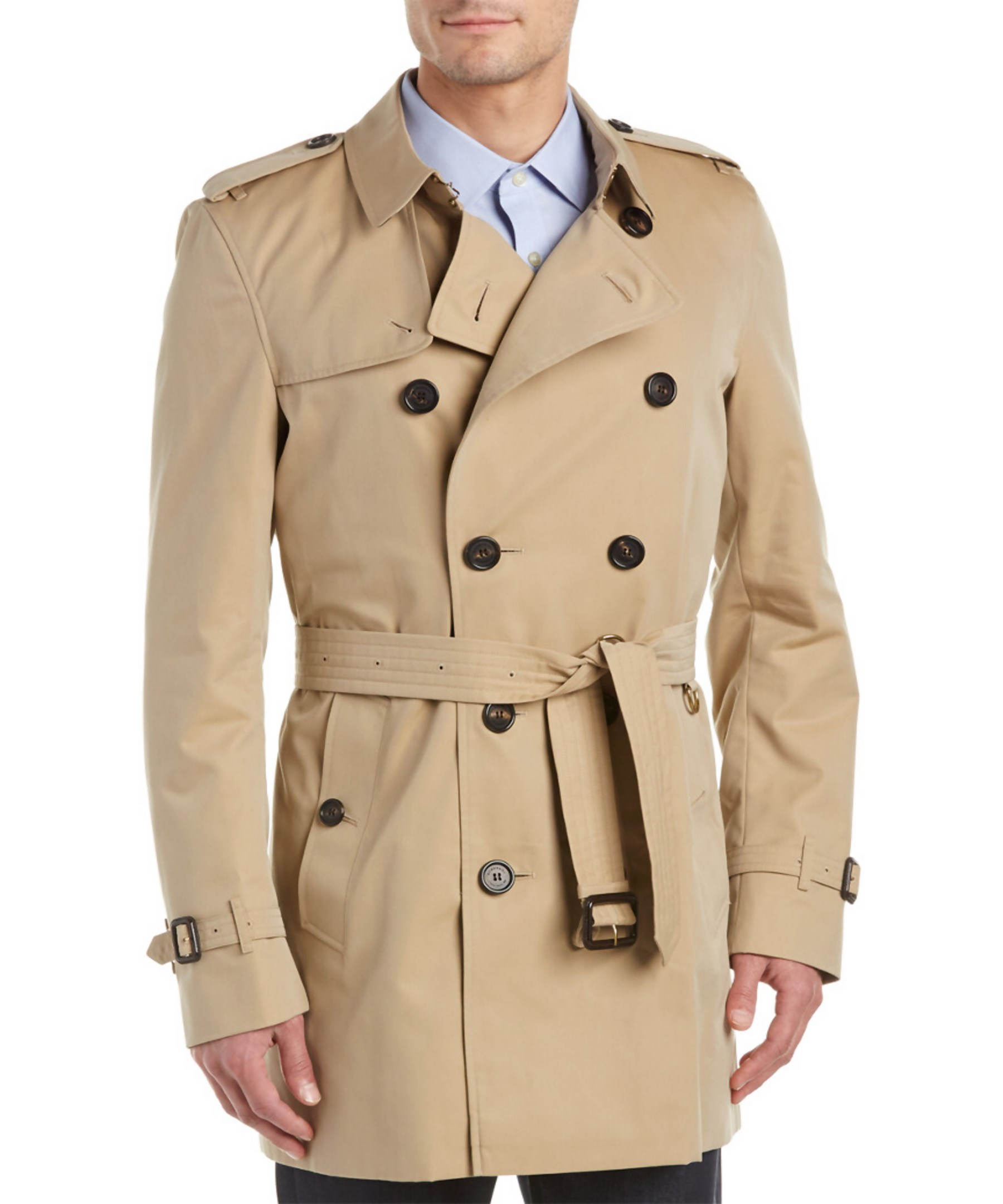 Burberry Kensington Mid Length Heritage Trench Coat In