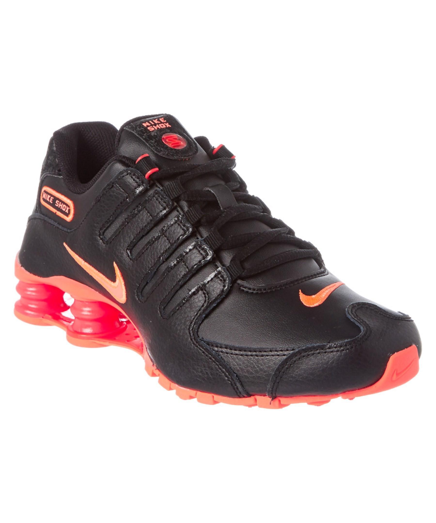 8b2f39843362 Lyst - Nike Women s Shox Nz Eu Leather Running Shoe in Black