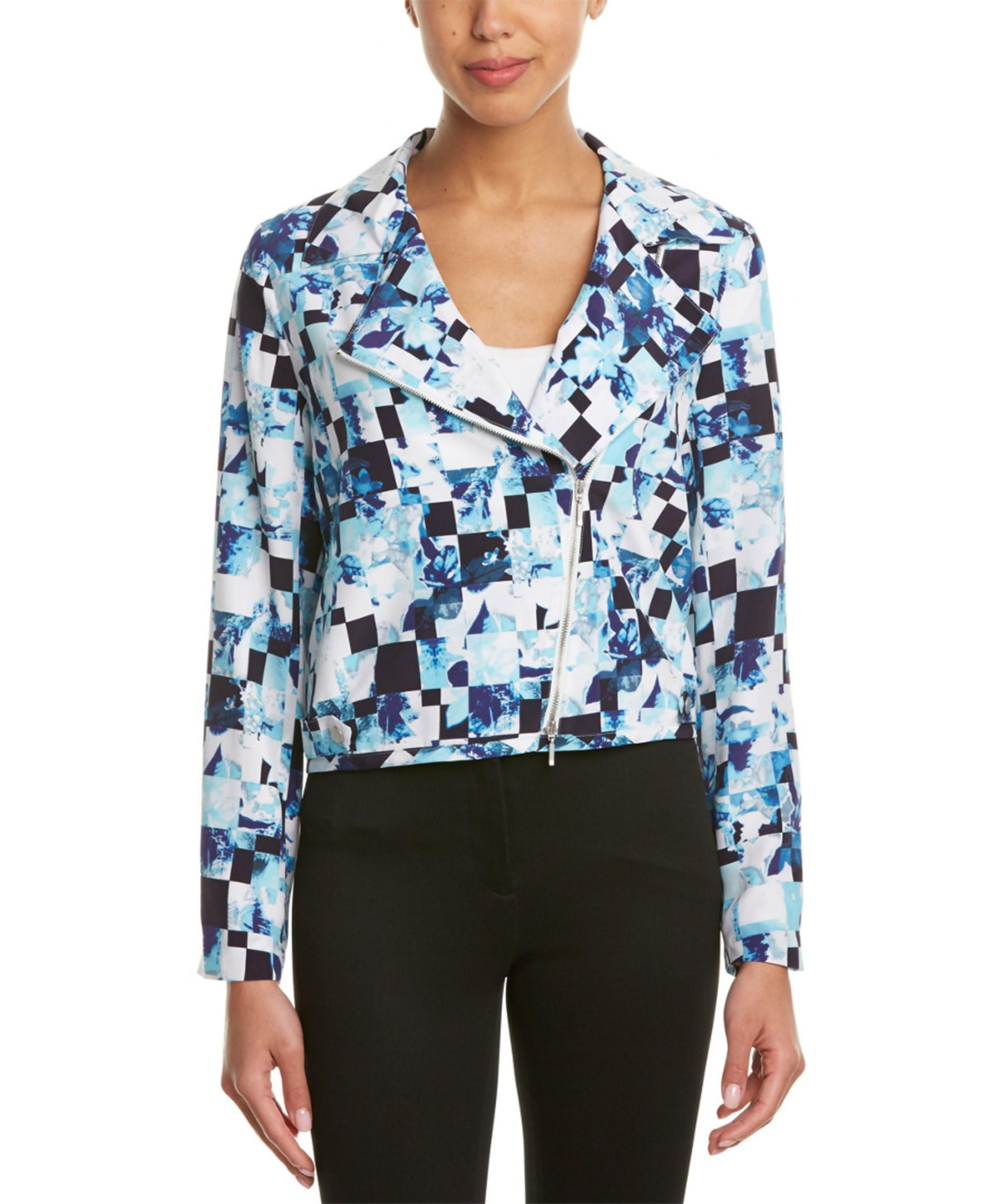 Lyst Magaschoni Silk Jacket In Blue