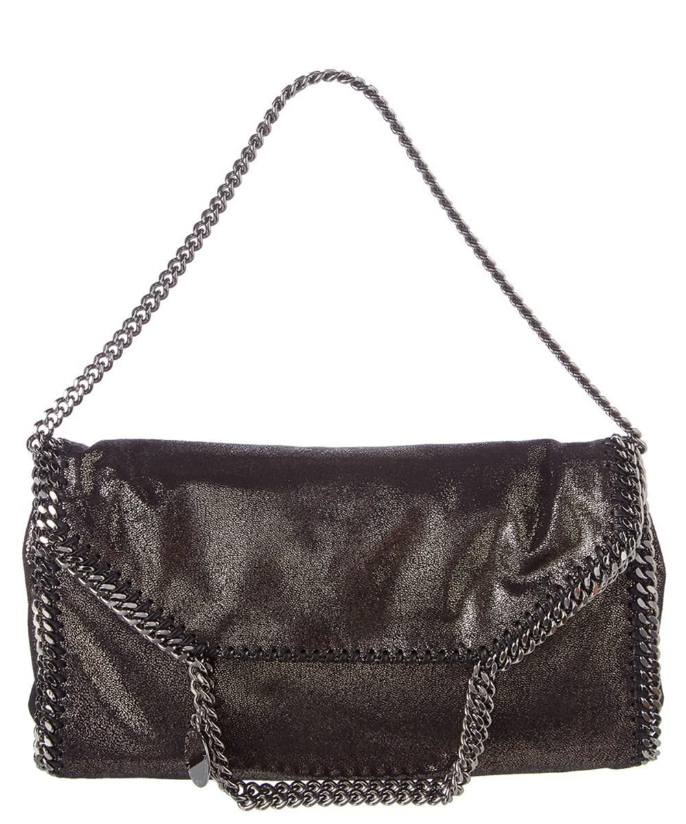 Stella McCartney Falabella Shiny Dotted Chamois Crossbody Bag (Black Hardware) dZTKpDO
