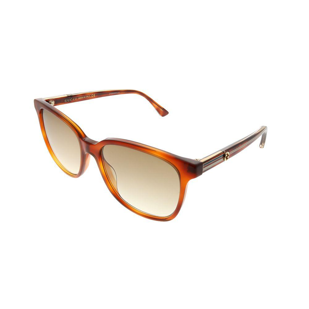 218f300a55b Gucci - Brown GG 0376s 004 Light Havana Square Sunglasses - Lyst. View  fullscreen