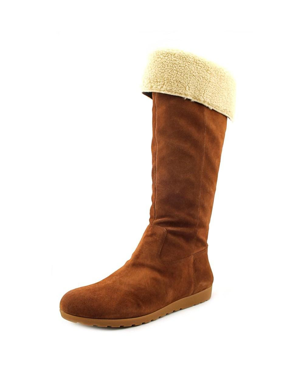 e1d79d767aa Lyst - Nine West Diyella Women Round Toe Leather Knee High Boot in Brown
