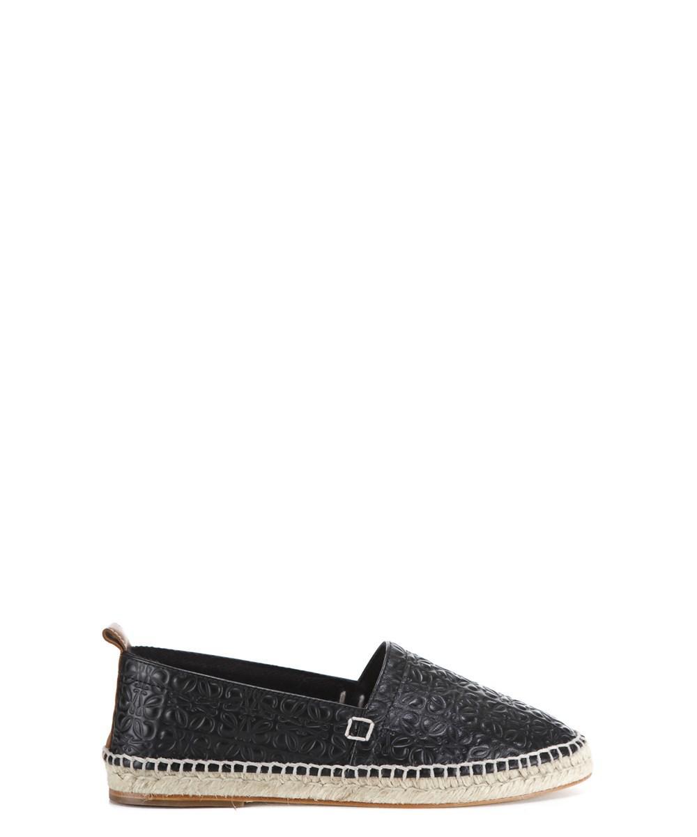35919258af33b Lyst - Loewe Men s Black Leather Espadrilles in Black for Men