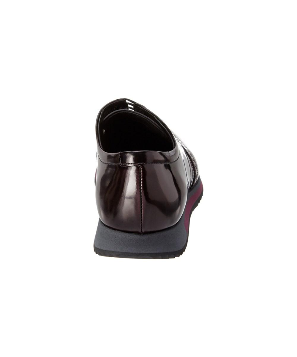 outlet Cheapest Prada Brushed Brogue Leather Loafer shopping online original sale professional Ol9Ox