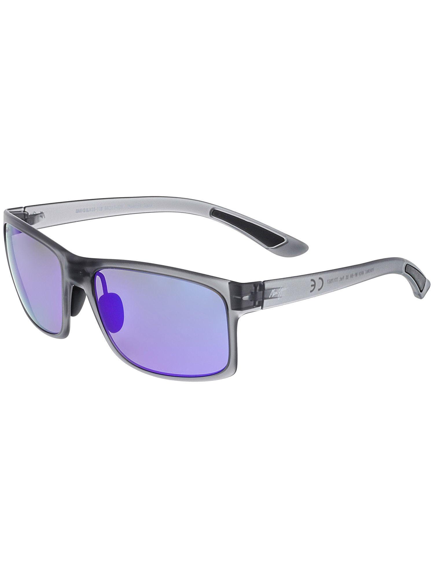 9e6bf901f6 Maui Jim. Gray Men s Polarized Pokowai Arch B439-11m Grey Rectangle  Sunglasses