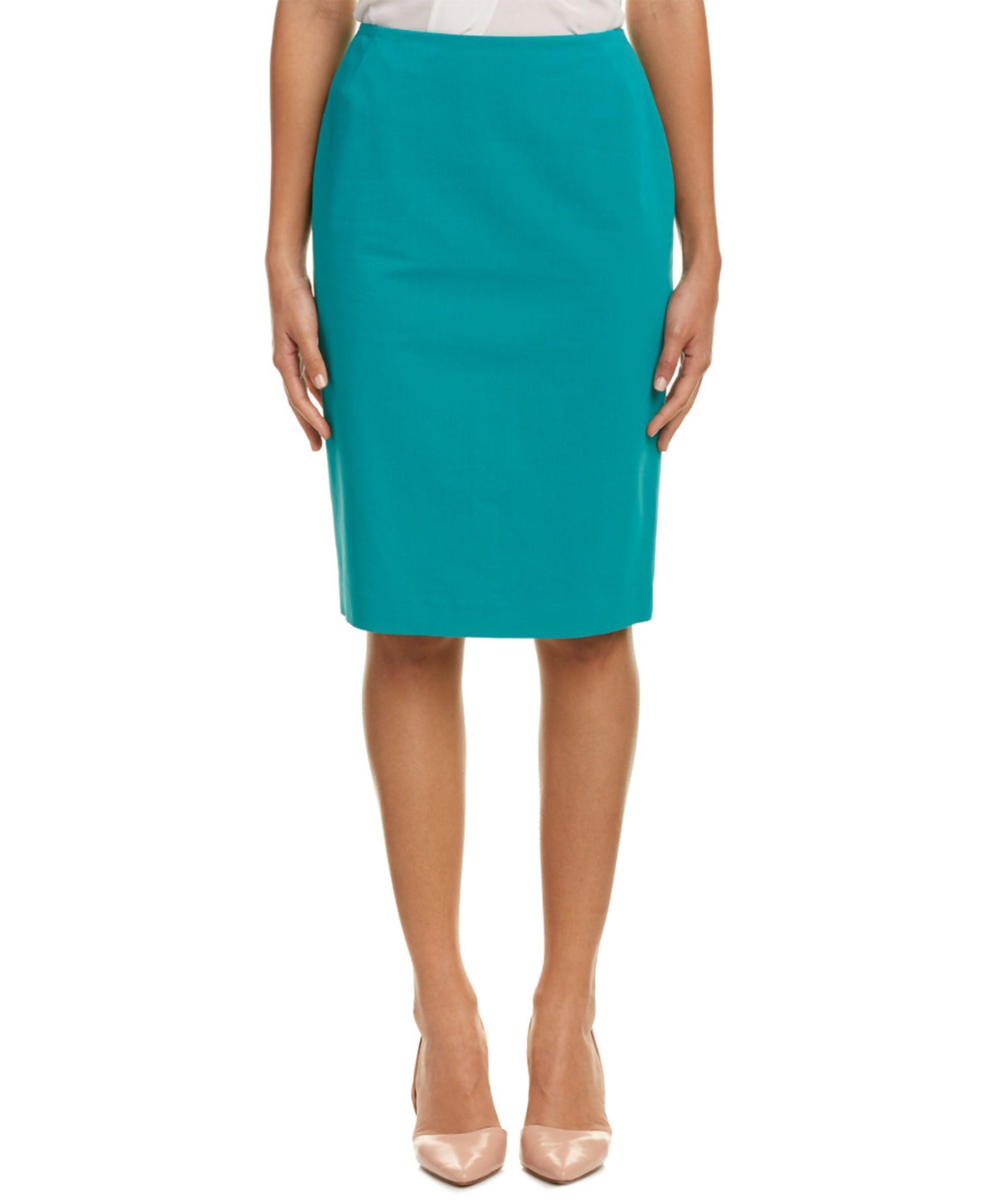 lafayette 148 new york pencil skirt in blue lyst