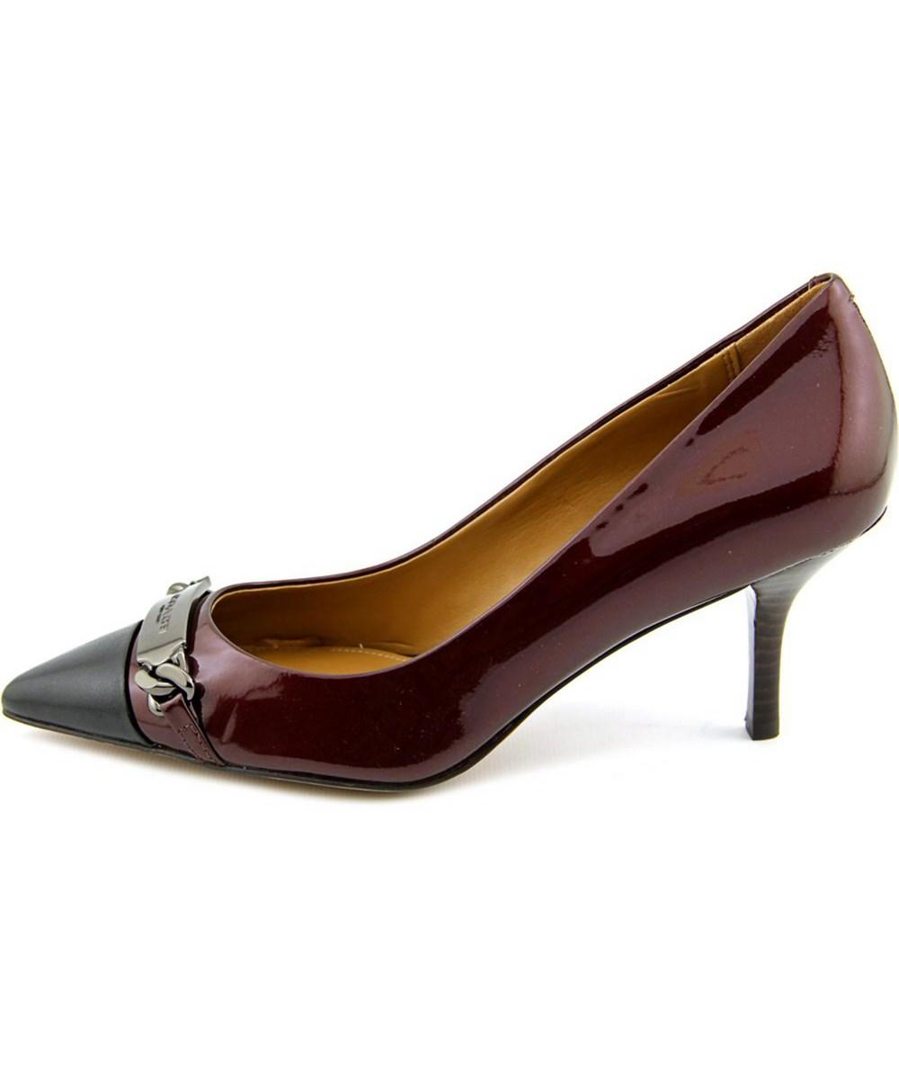 b31f413b35e COACH - Red Bowery Women Pointed Toe Patent Leather Burgundy Heels - Lyst