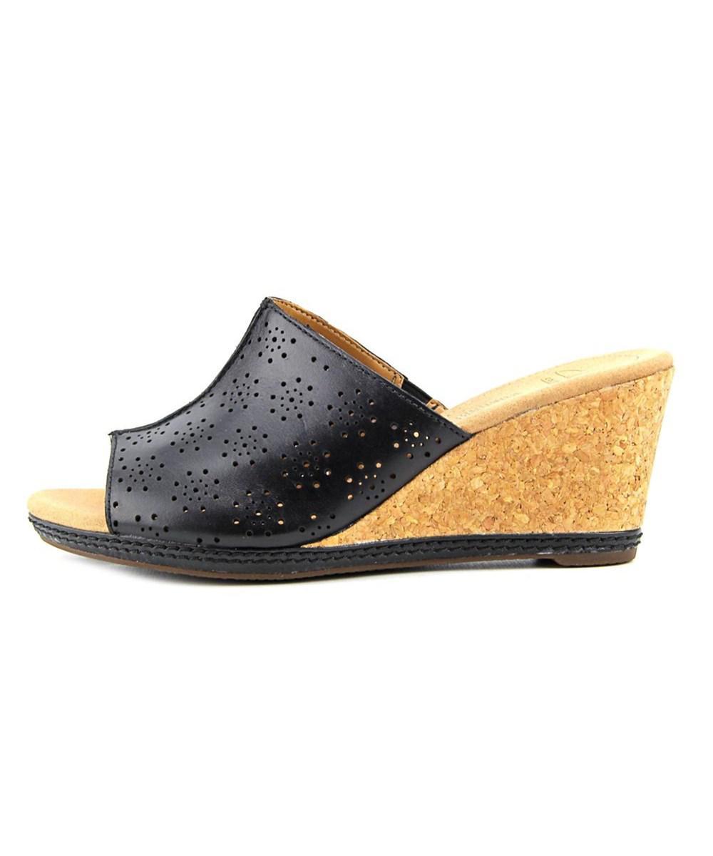 860d33d24297 Lyst - Clarks Helio Corridor Women Open Toe Leather Wedge Sandal in ...